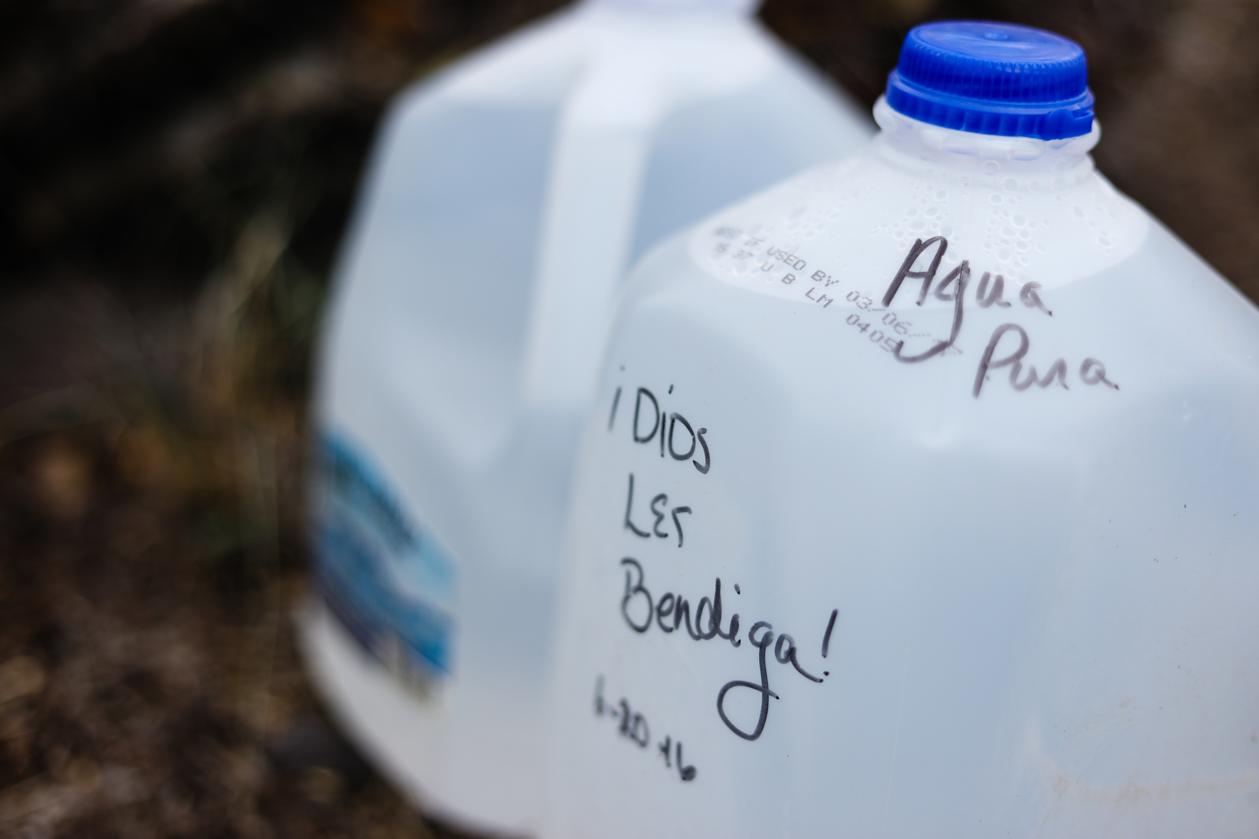 """Clean water, may God bless you."""