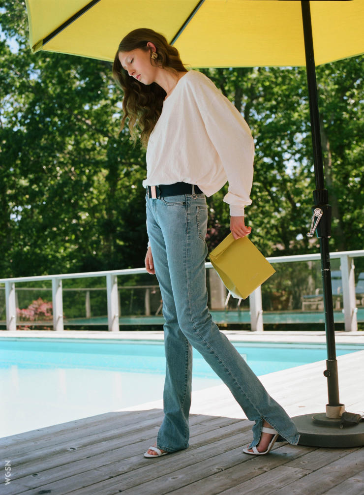 02. SPLIT SEAM - Flare jeans are being revisited in unexpected ways this coming season. Side seams are being released creating side slits that embrace a more fluid look.