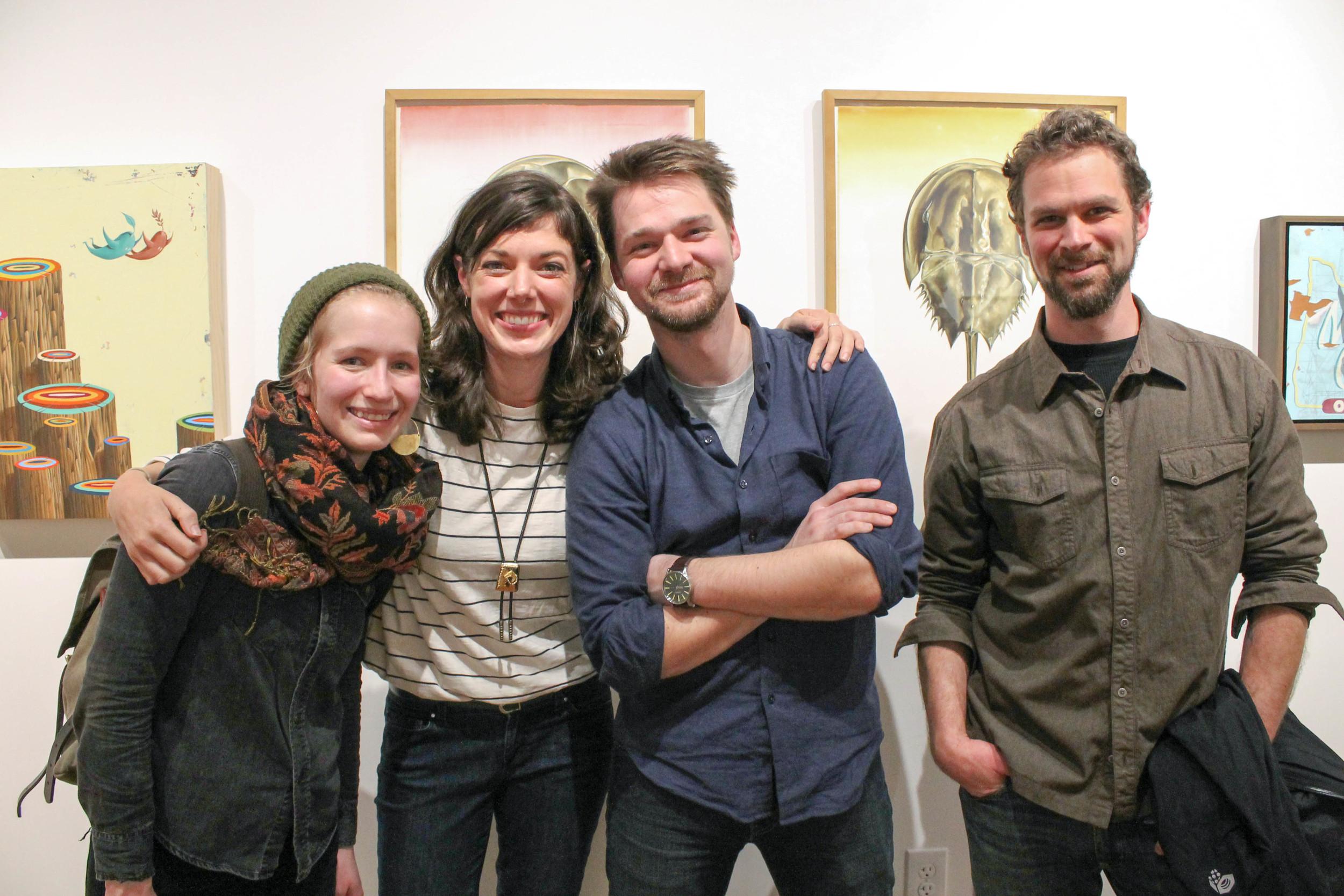 Zoe Keller, Christina Mrozik, Michael Alm, and Brin Levinson