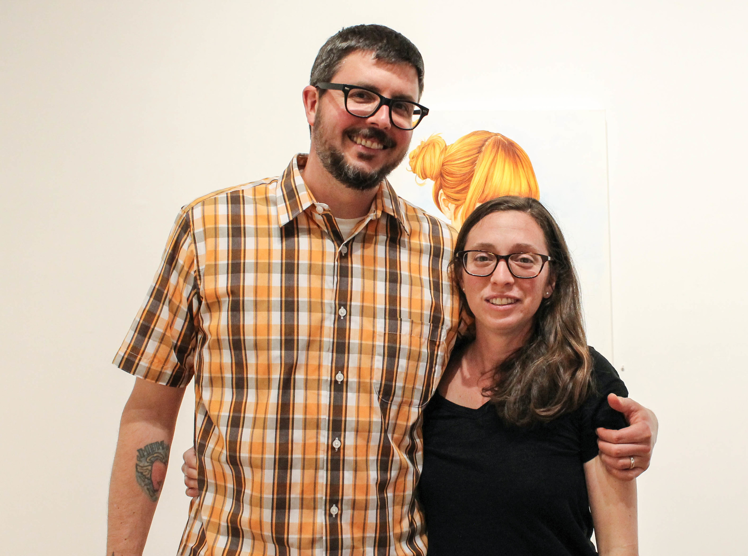 Artist Ryan Bubnis and Cecilia Singer