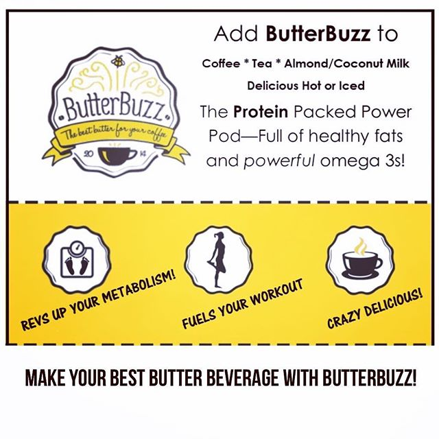 You know it's not just for your #coffee, right? ButterBuzz is #amazing  blended in all varieties of #tea and even in #almondmilk or #coconutmilk. Hot or iced... it is beyond #delicious and crazy #healthy! ♥️🍮♥️ #butterbeverage #protein #collagen #grassfedbutter #coconutoil #paleo #keto #crossfit #gymrat #mommylife #fitness #grateful #happylife