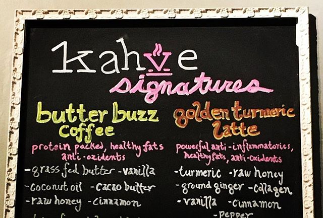 Now you can get your cup of hot or iced ButterBuzz in NYC!  Check out the wonderful coffee house @kahvebean KAHVE!  Two locations in the heart of Hell's Kitchen. While you're there, check out our newest pod...GoldenBuzz, the instant Golden Latte. Turmeric is the healthy headliner in this healing drink. Hot or iced...#yummy! #turmeric #grassfedbutter #buttercoffee #healthyfats #crossfit #protein #goldenlatte #collagen #delish #glutenfree #healthymom #keto #paleo #coffee #cafe #coffeehouse