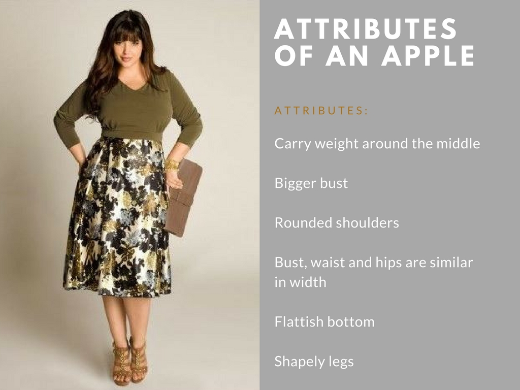 attributes of an apple body shape