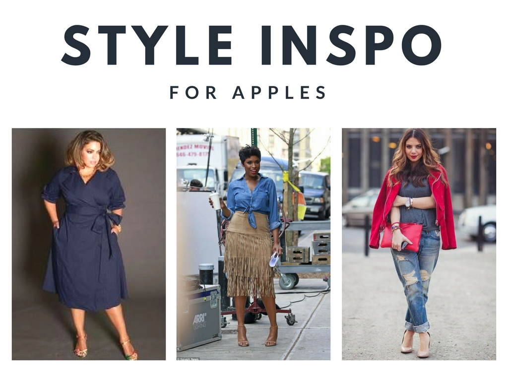 style inspiration for an apple body shape