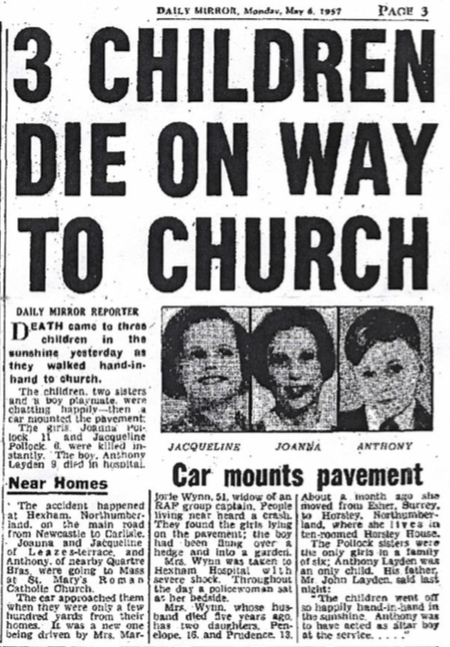 Original Daily Mirror article from May 6th 1957