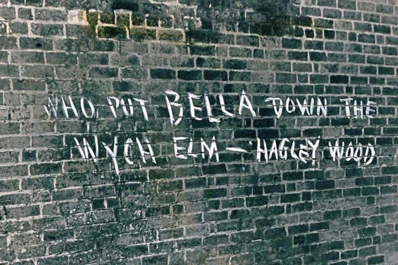 Early graffiti relating to the Hagley Wood Murder