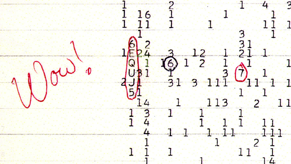 The 'Wow' signal
