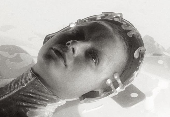 Samantha Morton as an Oracle in Minority Report (dir. Spielberg , 2002)