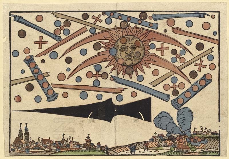 The 1561 Celestial Phenomenon Over Nuremberg by Hans Glasser.