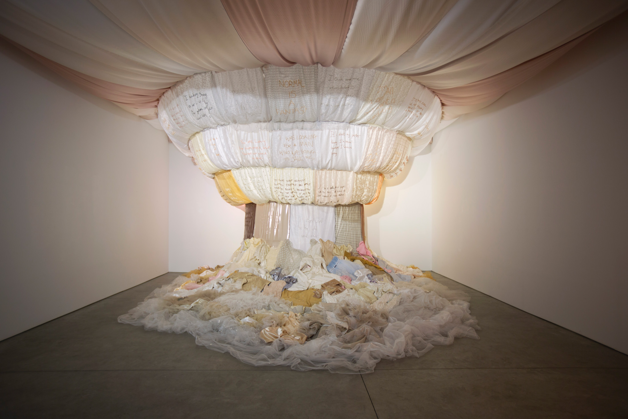 """The Dream"", Lace, organza installation, Frances Goodman 2010 - 2016  (Courtesy of the Artist and Richard Taittinger Gallery)"