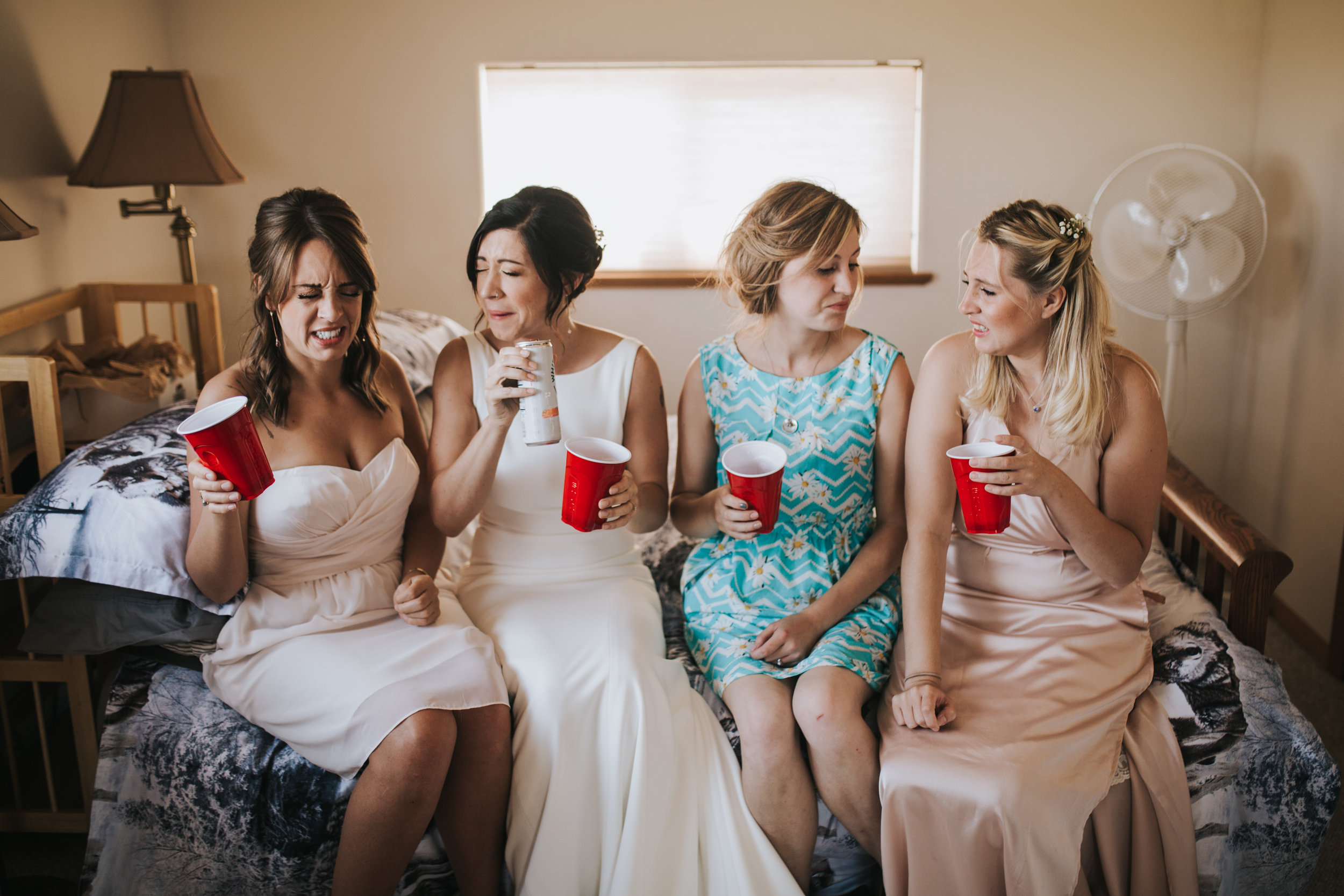 Bridesmaids Shots while Getting ready