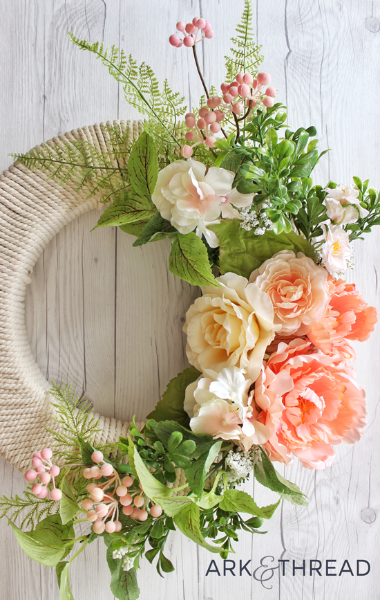 Ark+Thread \\ DIY Floral Spring Wreath