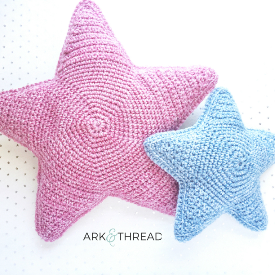 Ark + Thread Star Cushion Free Crochet Pattern