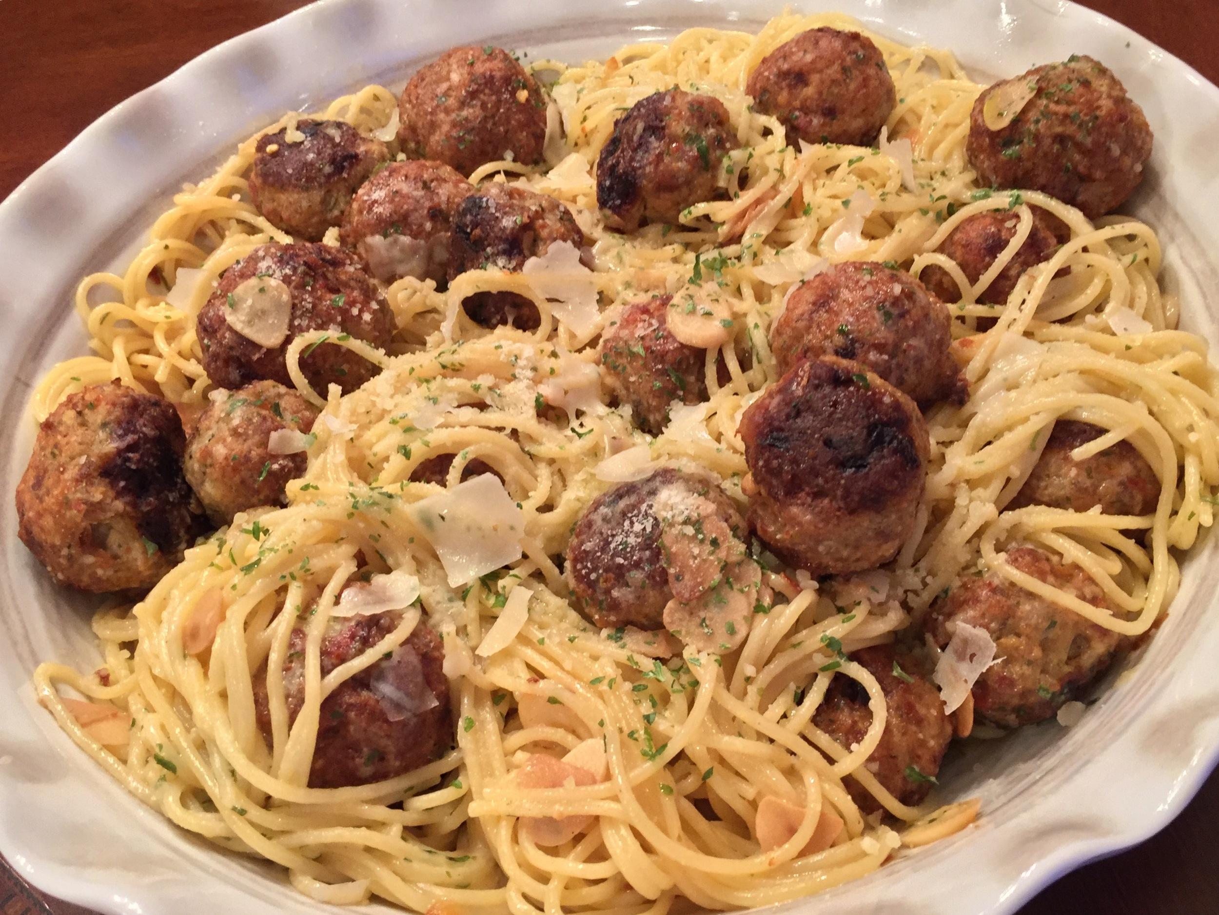 """""""Baked Meatballs & Pasta"""""""