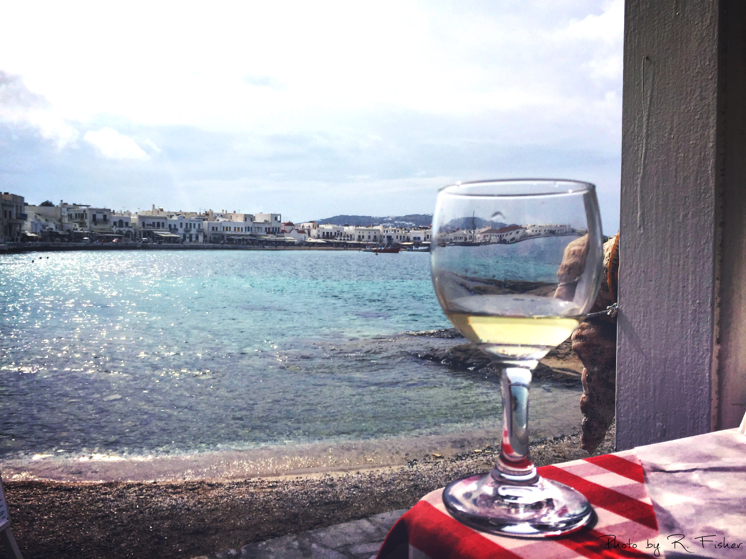 """Wine and Food by the Seashore"""