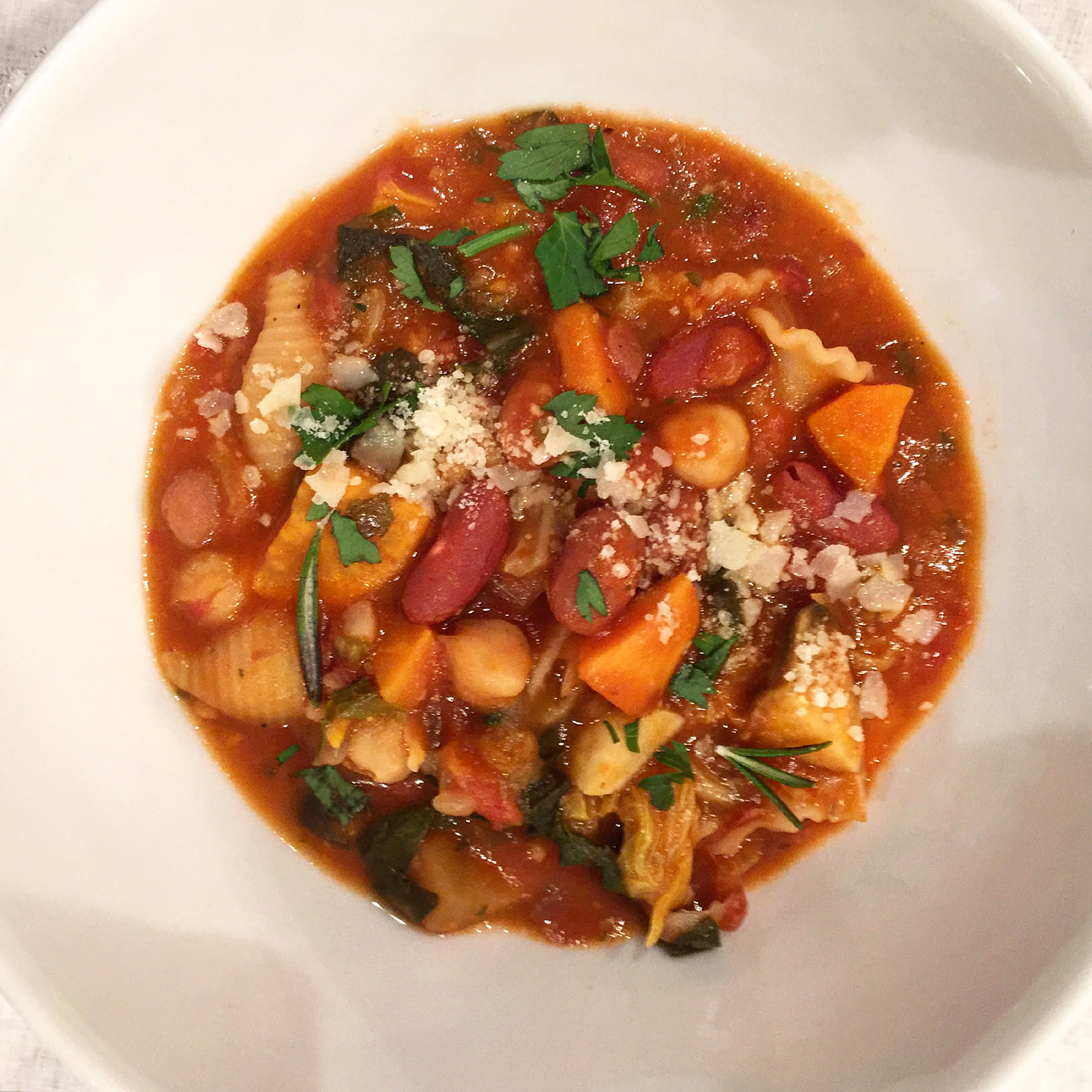 """Minestrone-so filling and delicious"""