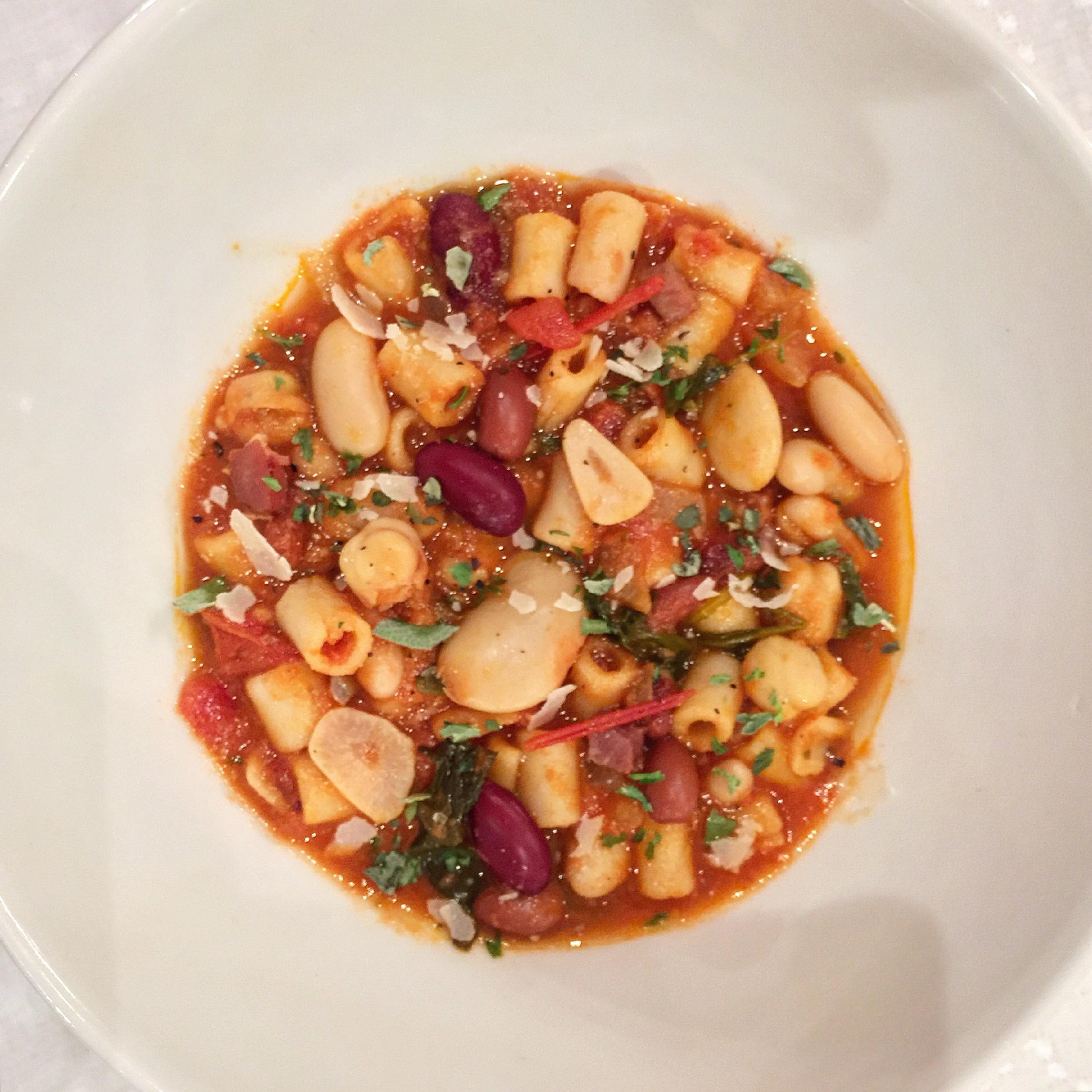 """Italian Pasta & Bean Soup"""