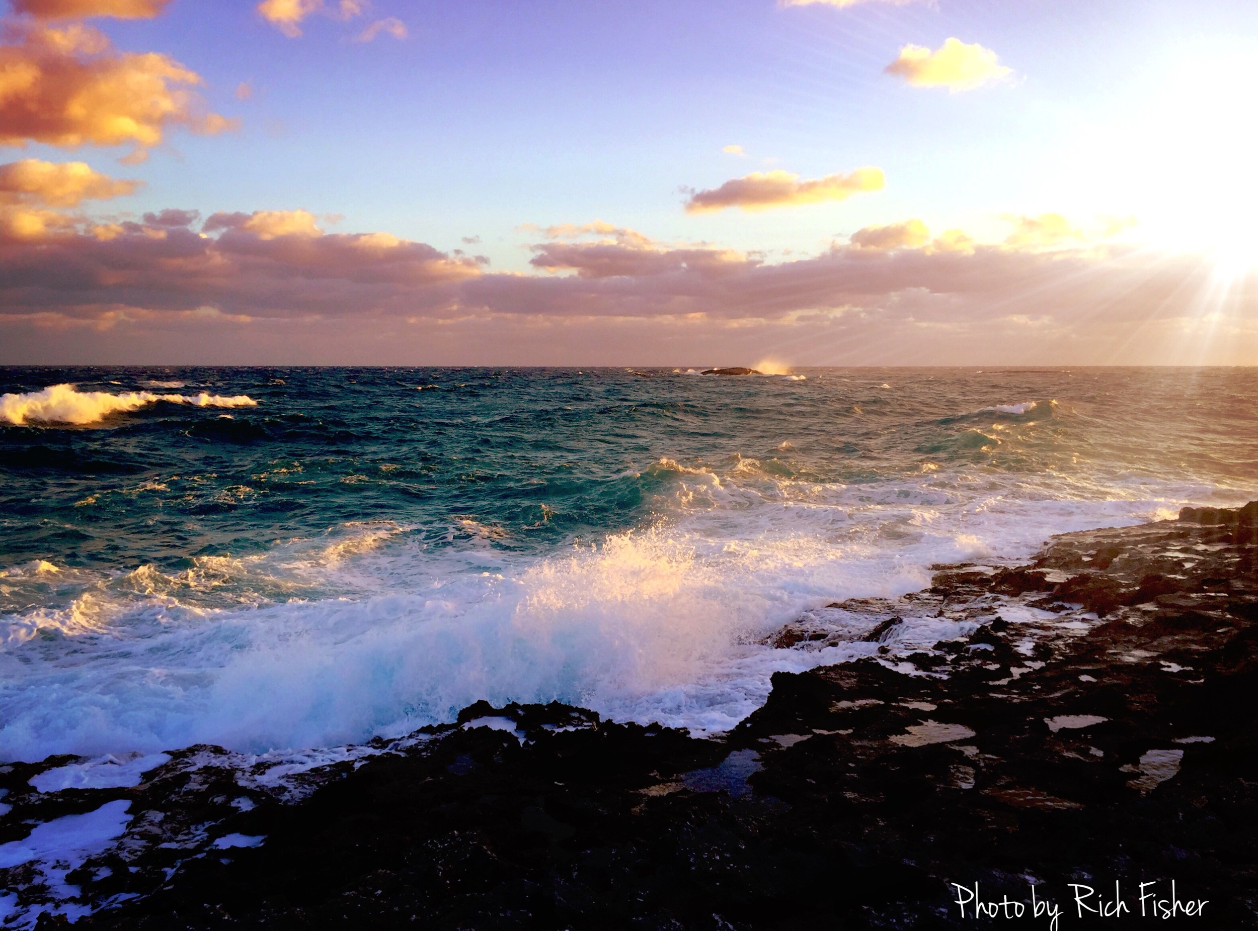 """Crashing Waves along the Keys"""