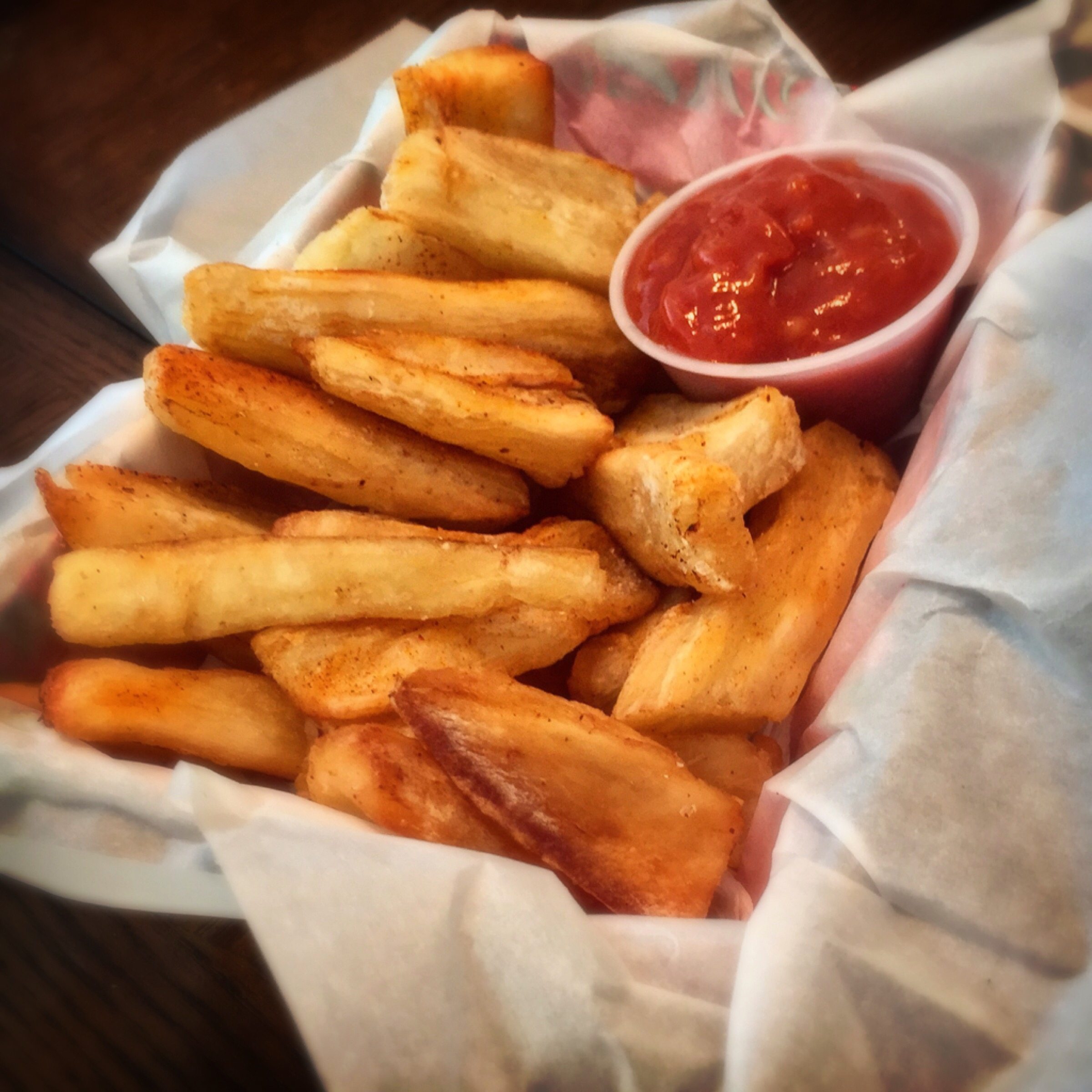"""Yucca Fries with Banana Ketchup"""