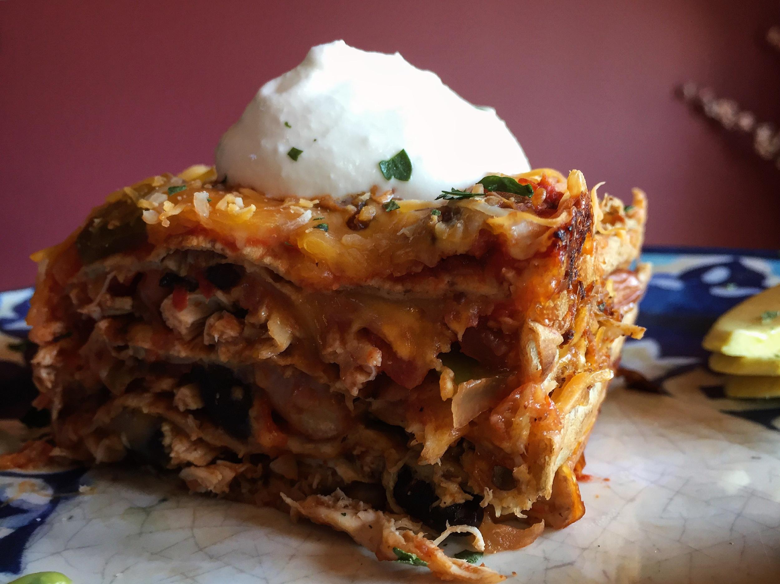 """Healthy Mexican Inspired Lasagna"""