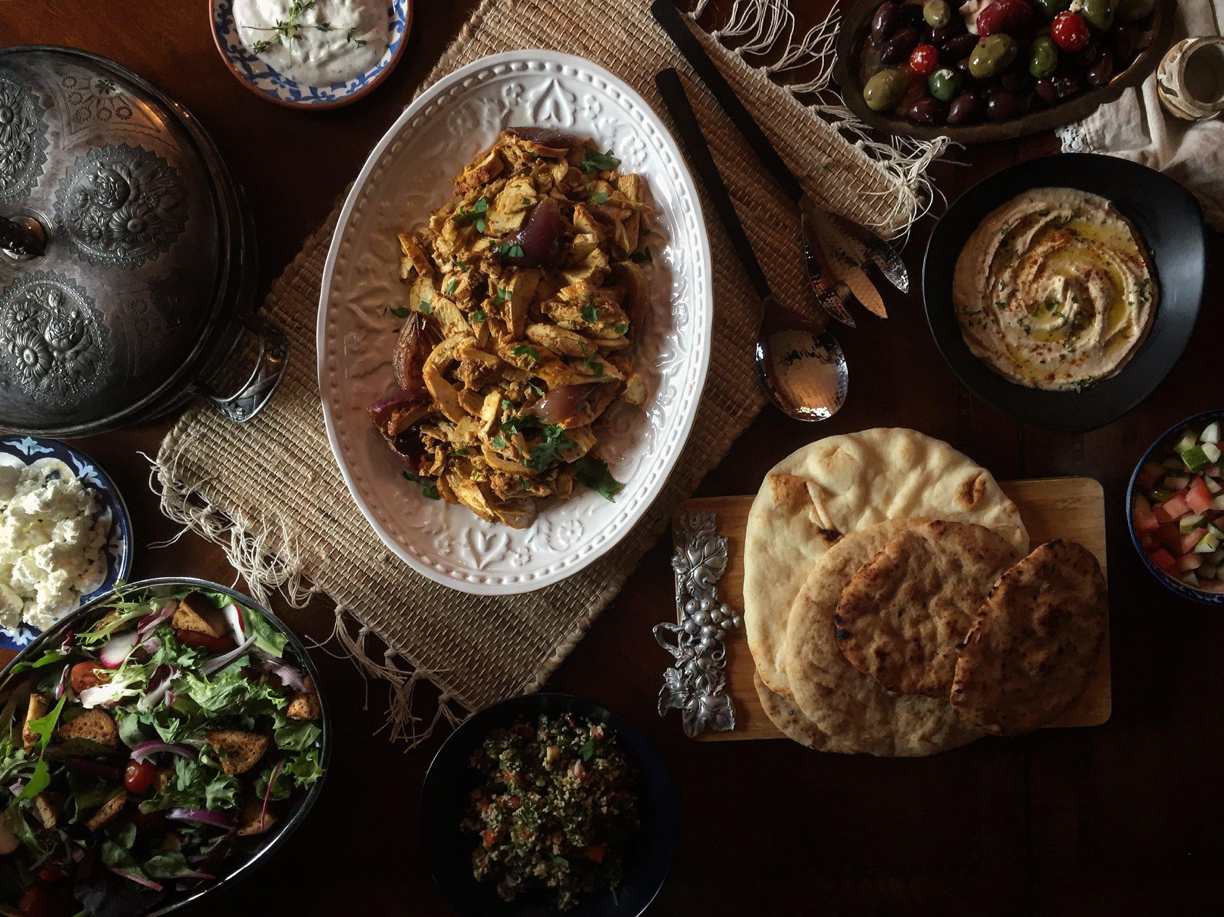 """Eastern Mediterranean Themed Meal"""