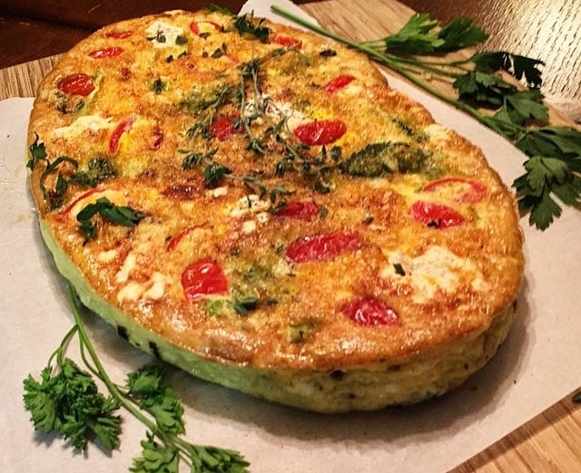 """""""Herb & Cheese Frittata with Tomato"""""""