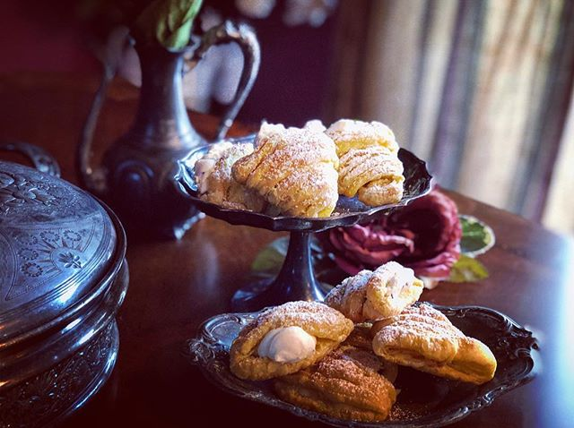 "A little late to my website but head on over to DefinitelyDelish.com and try my shortcut to delicious ""Italian Sfogliatelle Pastries"" - They're a little work to create but so worth the effort, whether baked with the authentic style filling inside or filled with my Sweetie's favorite, cannoli cream filling, afterwards.. - Head over to DefinitelyDelish.com for this and many other recipes today.. • Me and my Baby taste every recipe I post (and then some). While I may occasionally borrow an idea or get inspiration from a talented chef, I can not help adapting and tinkering with everything in our home. (It smells really good in here). My goal is to make sure every recipe has a little bit of me in it. (Sometimes to the point that it in no way resembles the original). So go on, enjoy yourselves and try one of them out for yourself. I think you'll find that they are so—""Definitely Delish"" • #DefinitelyDelish#ChefOnTheGo#Yummy#Delish#homemade#homecooking#Food#Delicious#Foodie#FoodPic#Cuisine#foodphotography#FeedFeed#italianfood#italiancuisine#italiandessert#dessert#pastry#authentic#cannoli#treat#snack#FunWithFood#GoodEats#AuthenticItalian#HomeChef#BakingFun#LoveFood#sfogliatelle#sfogliatella"