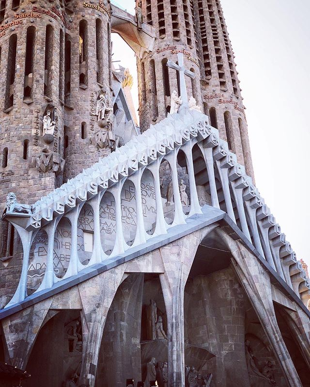 Will definitely be sharing more photos of this incredible Cathedral.. Masterminded by Gaudi and under construction for over 130 years.. This beautiful, intricate and stunningly sculpted building is truly awe inspiring.. A bucket list must see if ever there was one.. #travel #vacation #photography #pics #photos #vacay #Spain #beautiful #aweInspiring #gaudi #cathedral #art #beauty #stunning #lovingit #europeanvacation #NoGriswoldHere #photooftheday #picoftheday #photographyhobby