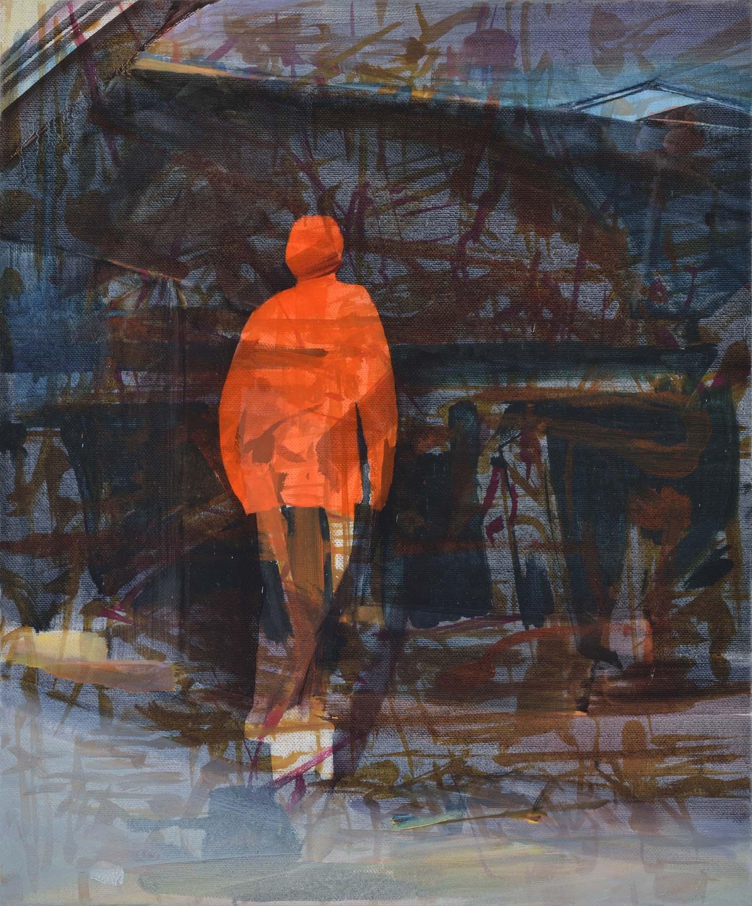 Haiti/Hayward/skate,  2015, oil on canvas, 74 x 61cm