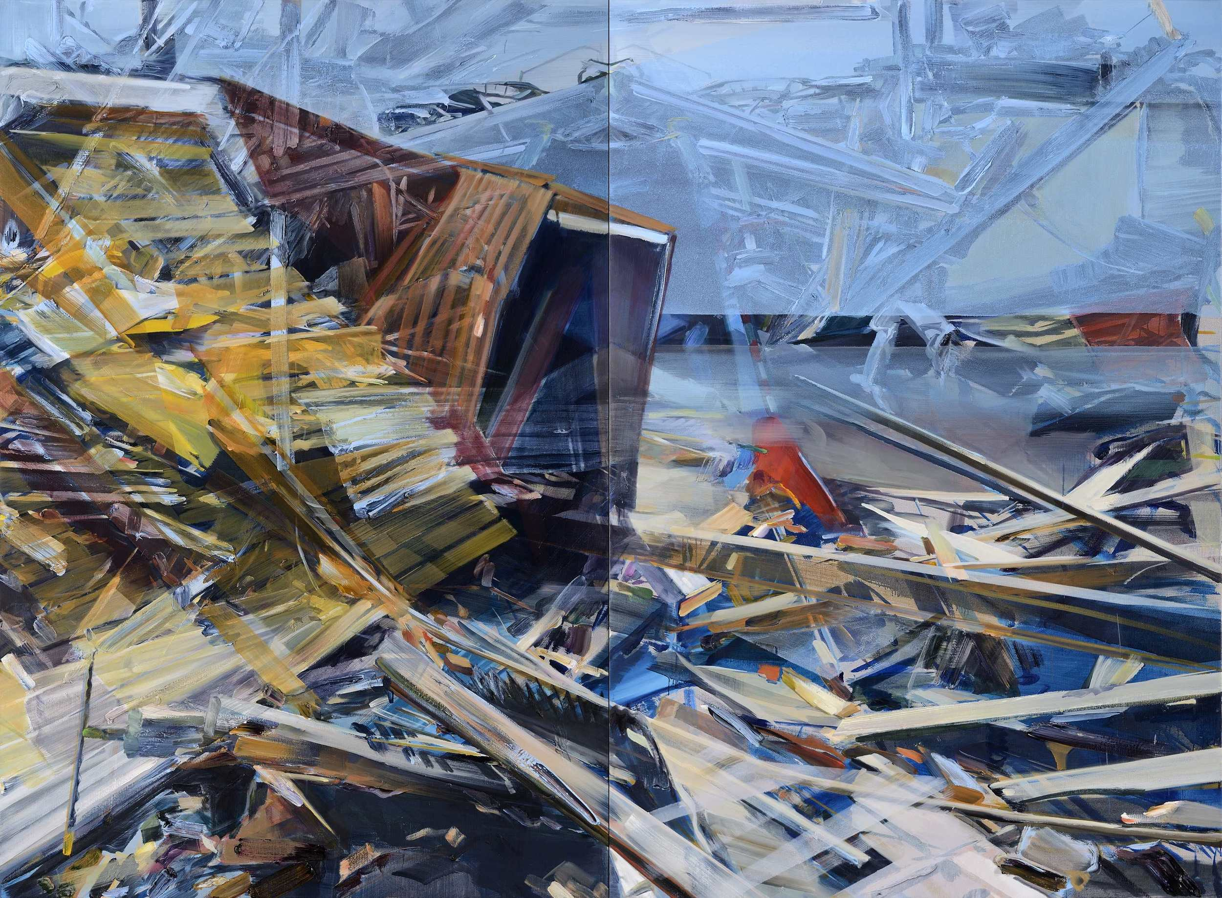 See through , 2012, oil and alkyd on canvas, 200 x 275cm. Private collection,France