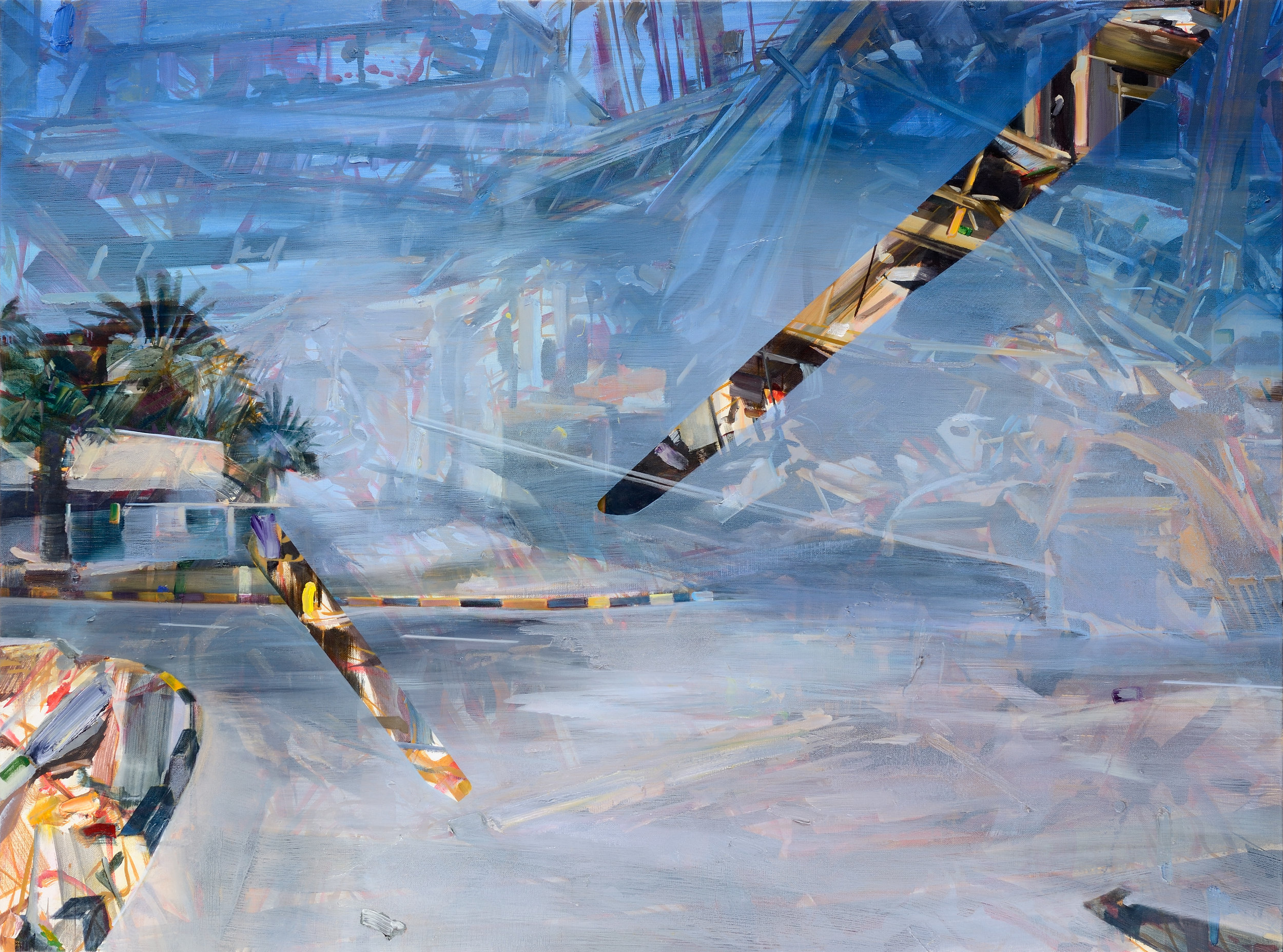 Crossroads , 2011, oil on canvas, 157 x 202cm. Private collection, France