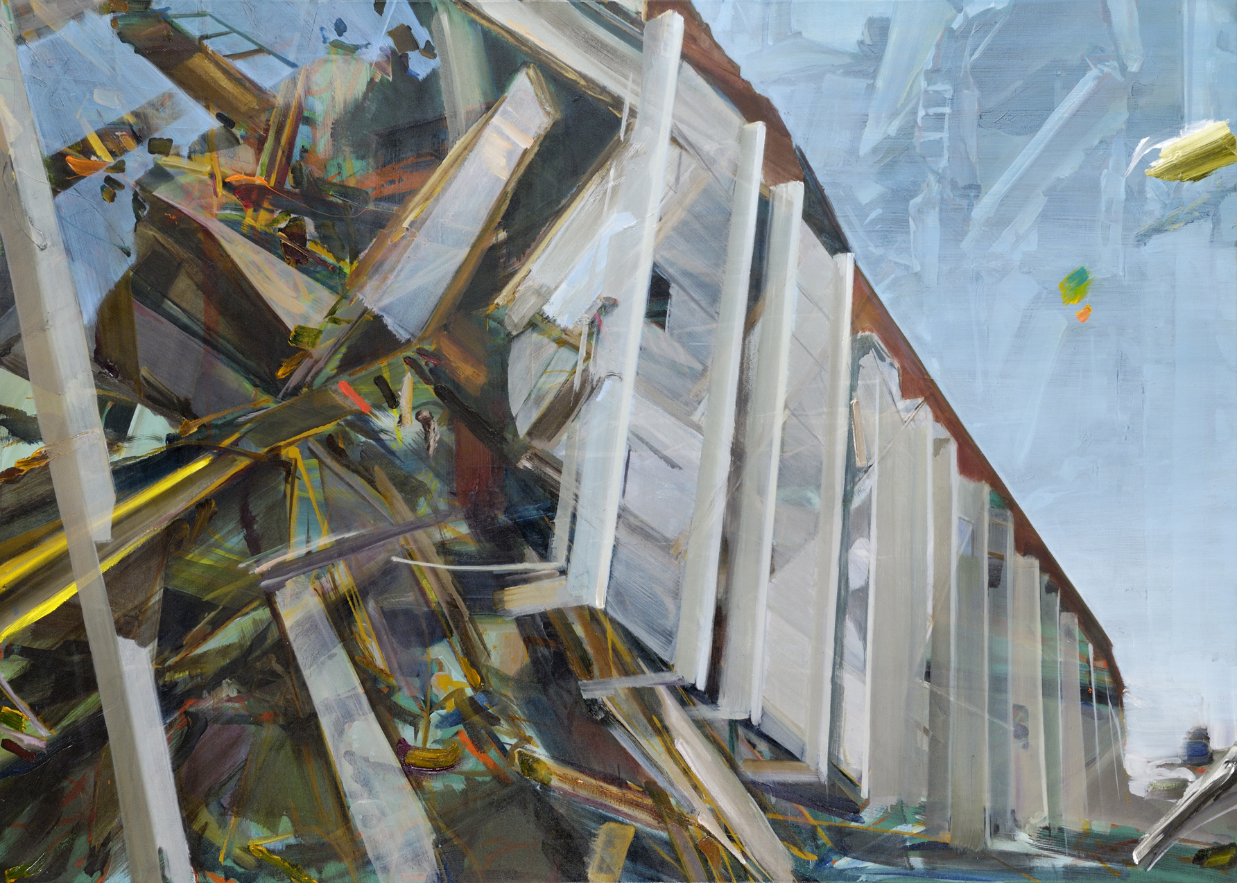 Humpty Dumpty , 2011, oil on canvas, 135.5 x 200cm. Private collection , France