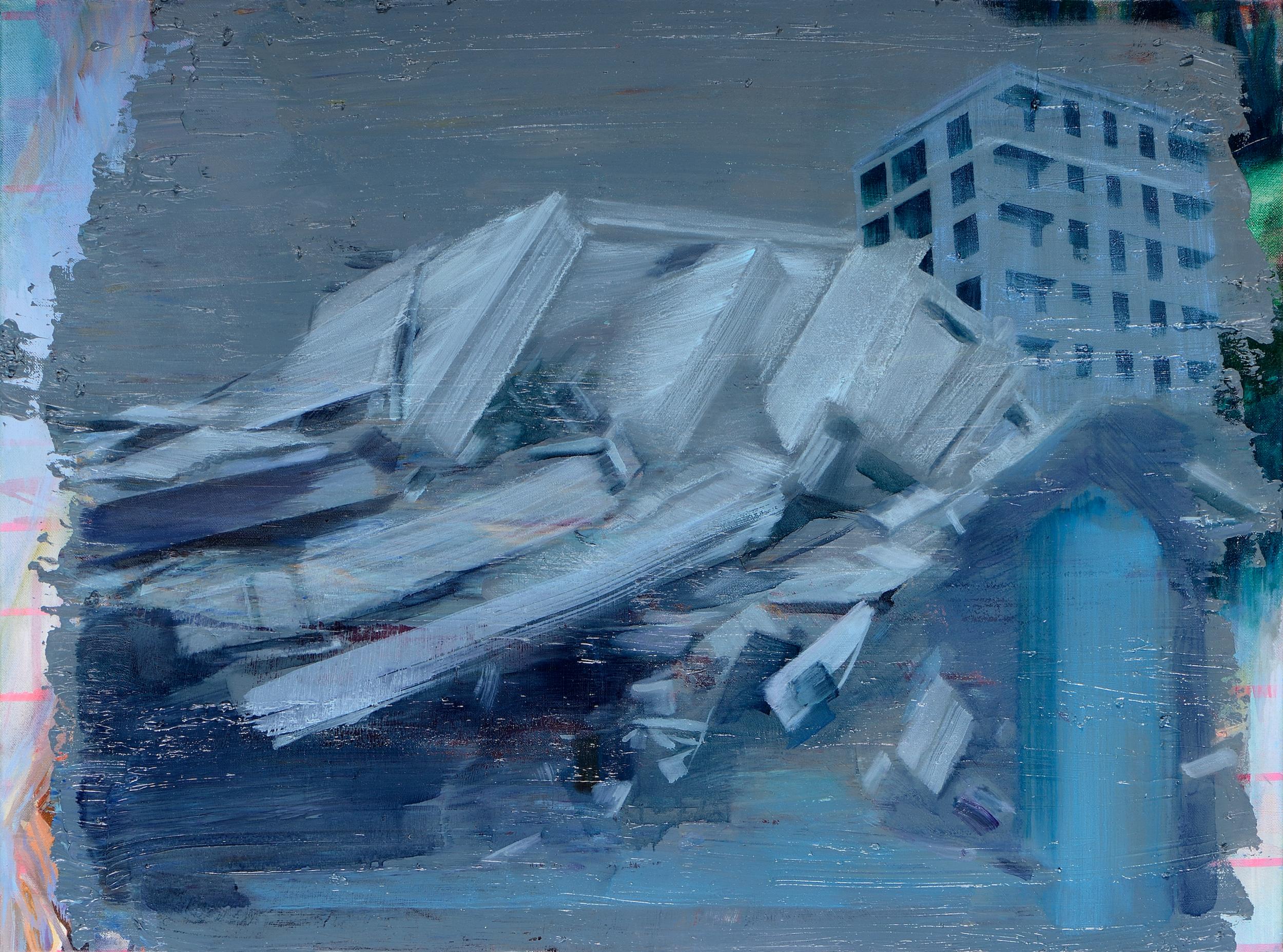 Einstürzende Neubauten (Time Piece) , 2012, oil on canvas, 60 x 81cm