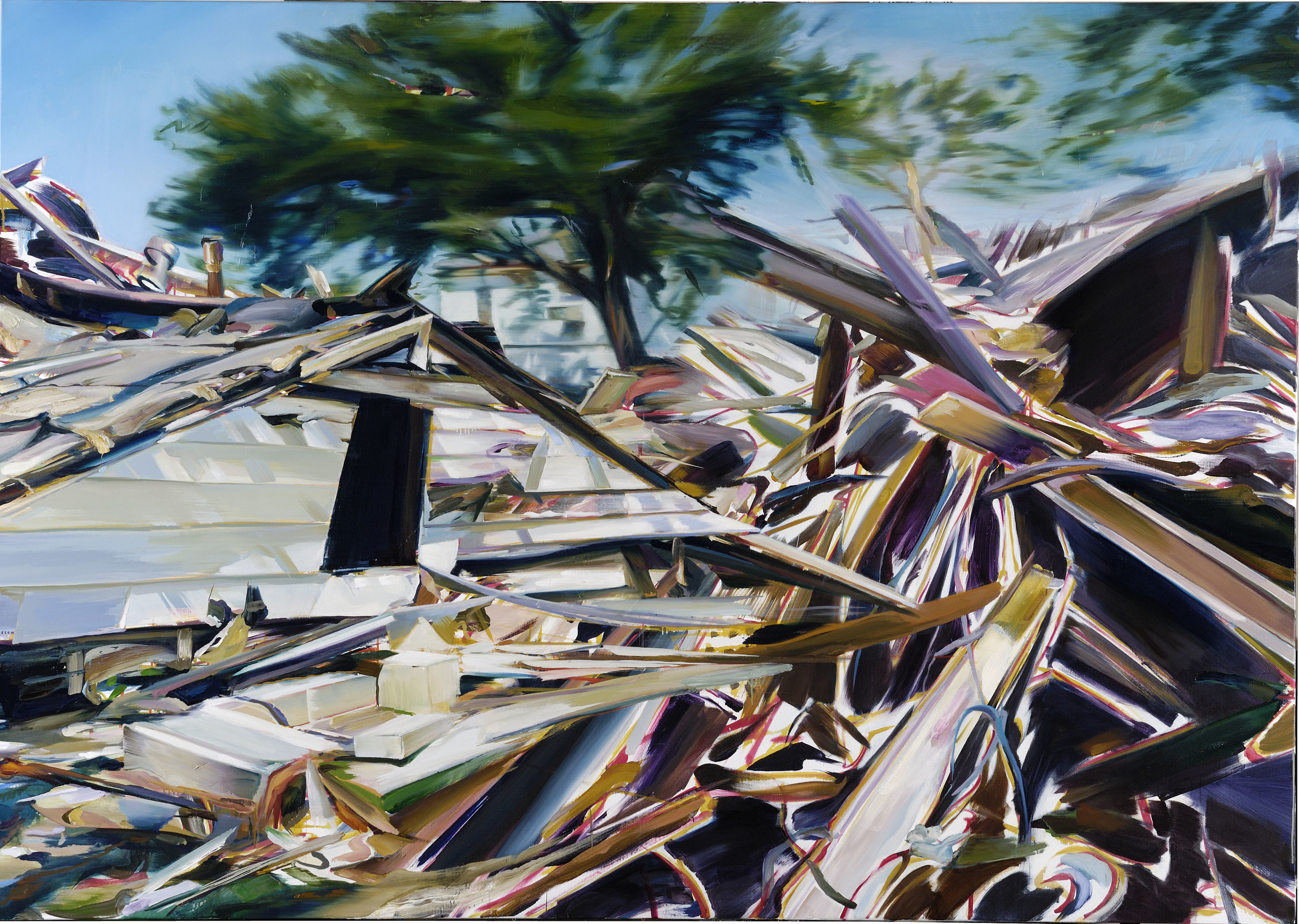 Power Sharing , 2009, oil on canvas, 176 x 250cm. Private collection, France