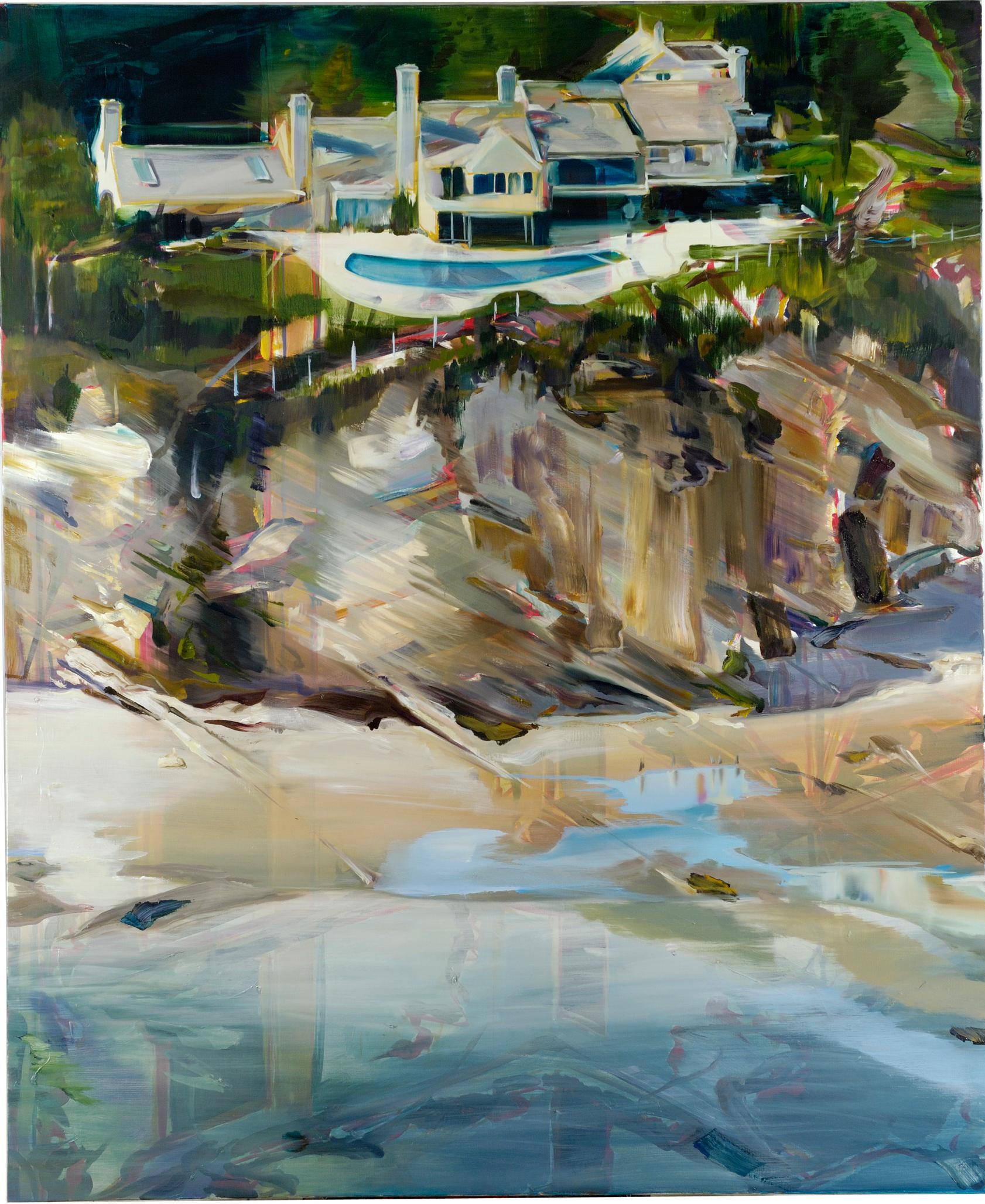 Villa Mugabe , 2009, oil on canvas, 195 x 135cm, oil on canvas. Private collection, France