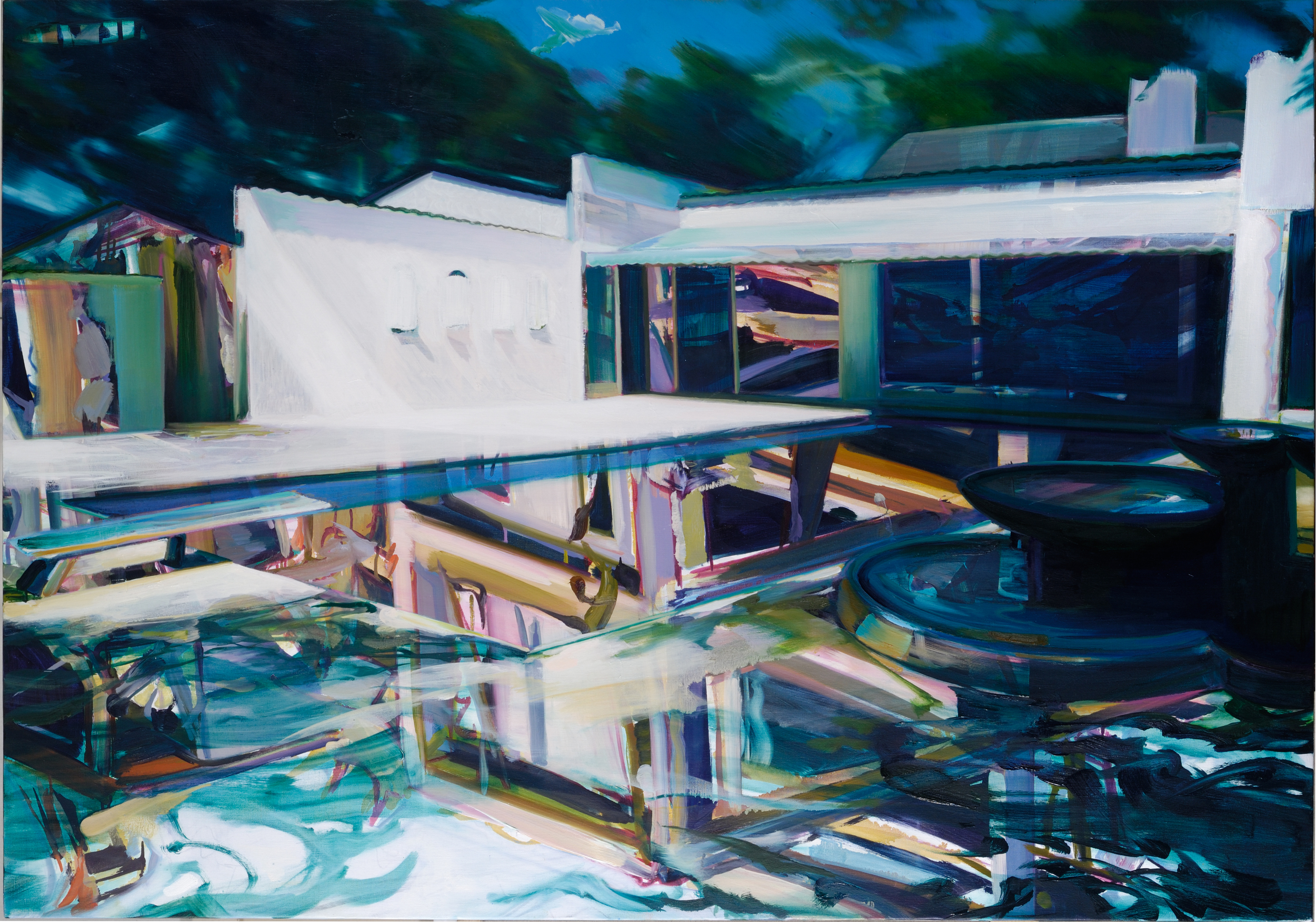 Poolside , 2008, oil on canvas, 114 x 162cm. Private collection, France