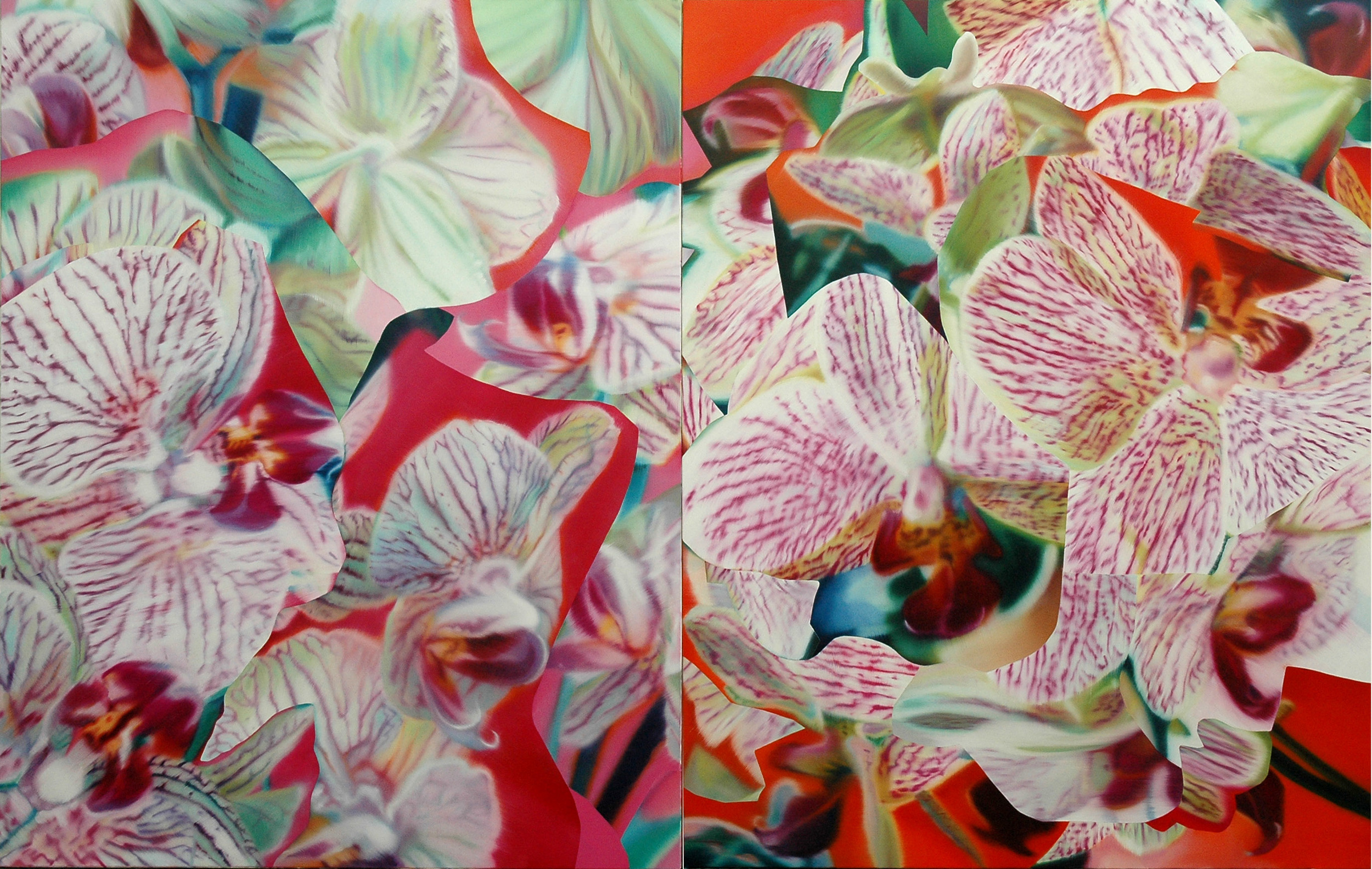 Untitled , 2005, oil on canvas, 146 x 228cm (diptych). Private collection, France
