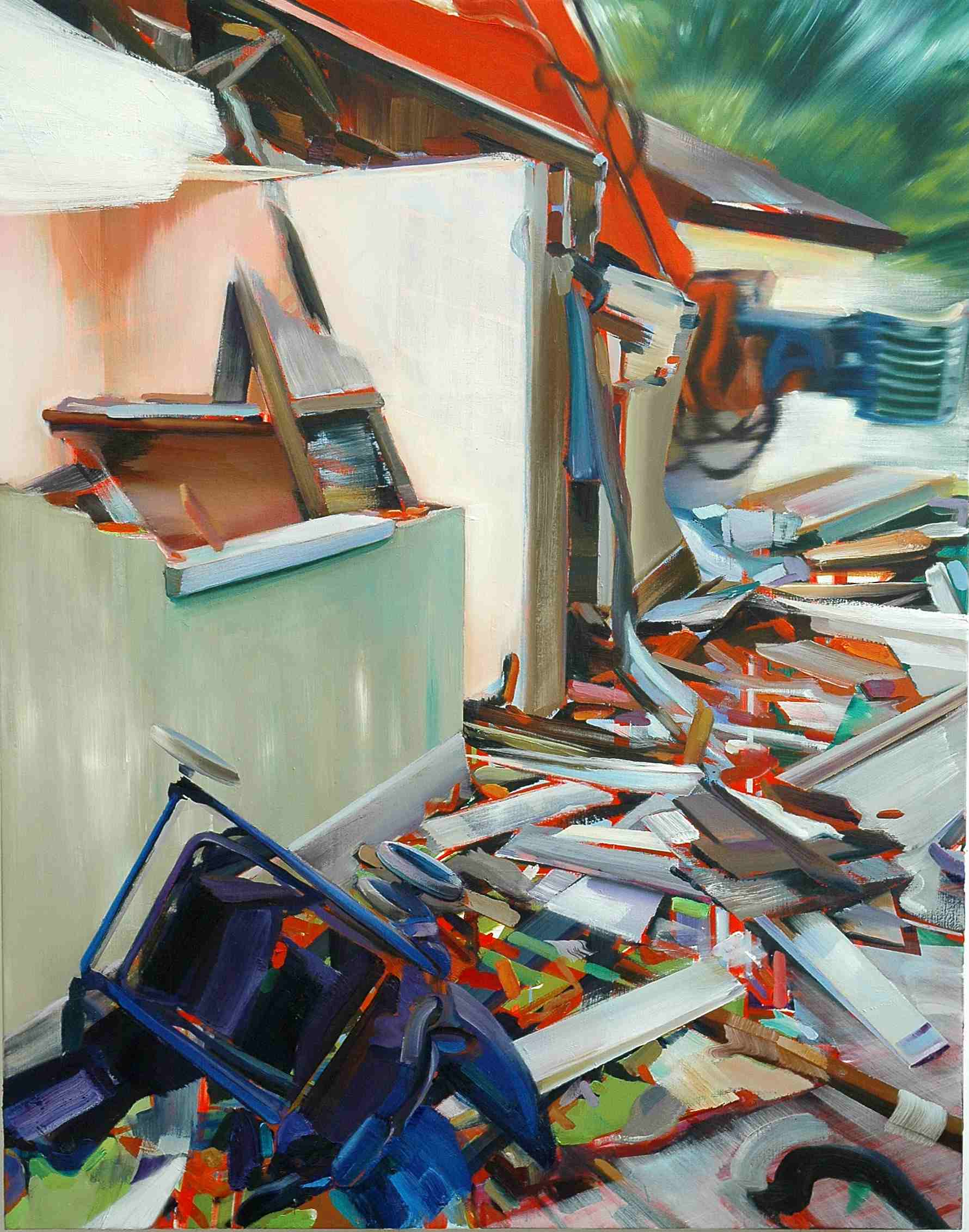 House Mix 1 , 2007, oil on canvas, 145 x 114cm. Salomon Foundation collection, France