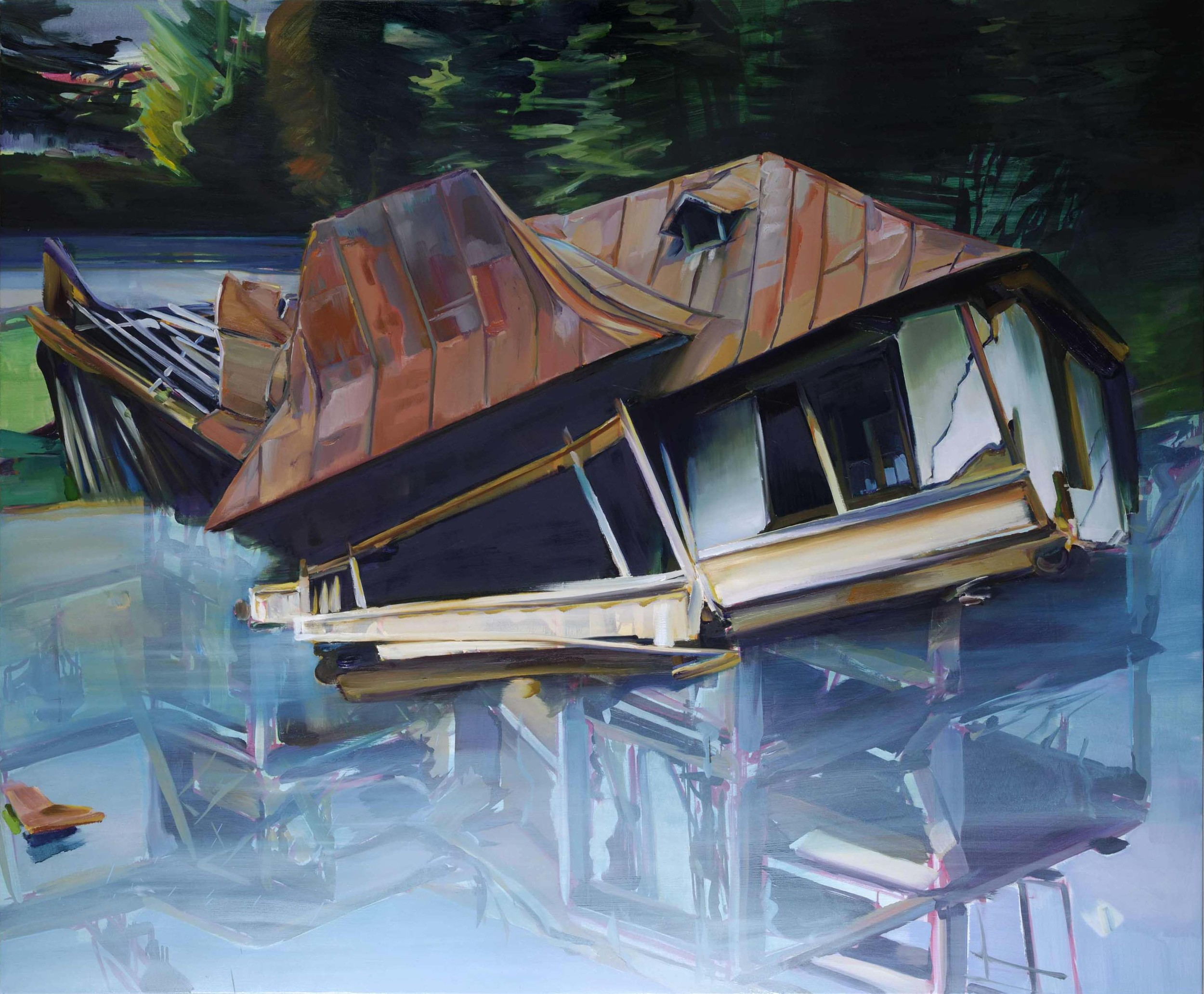 Untitled , 2008, oil on canvas, 165 x 200cm. Private collection, France