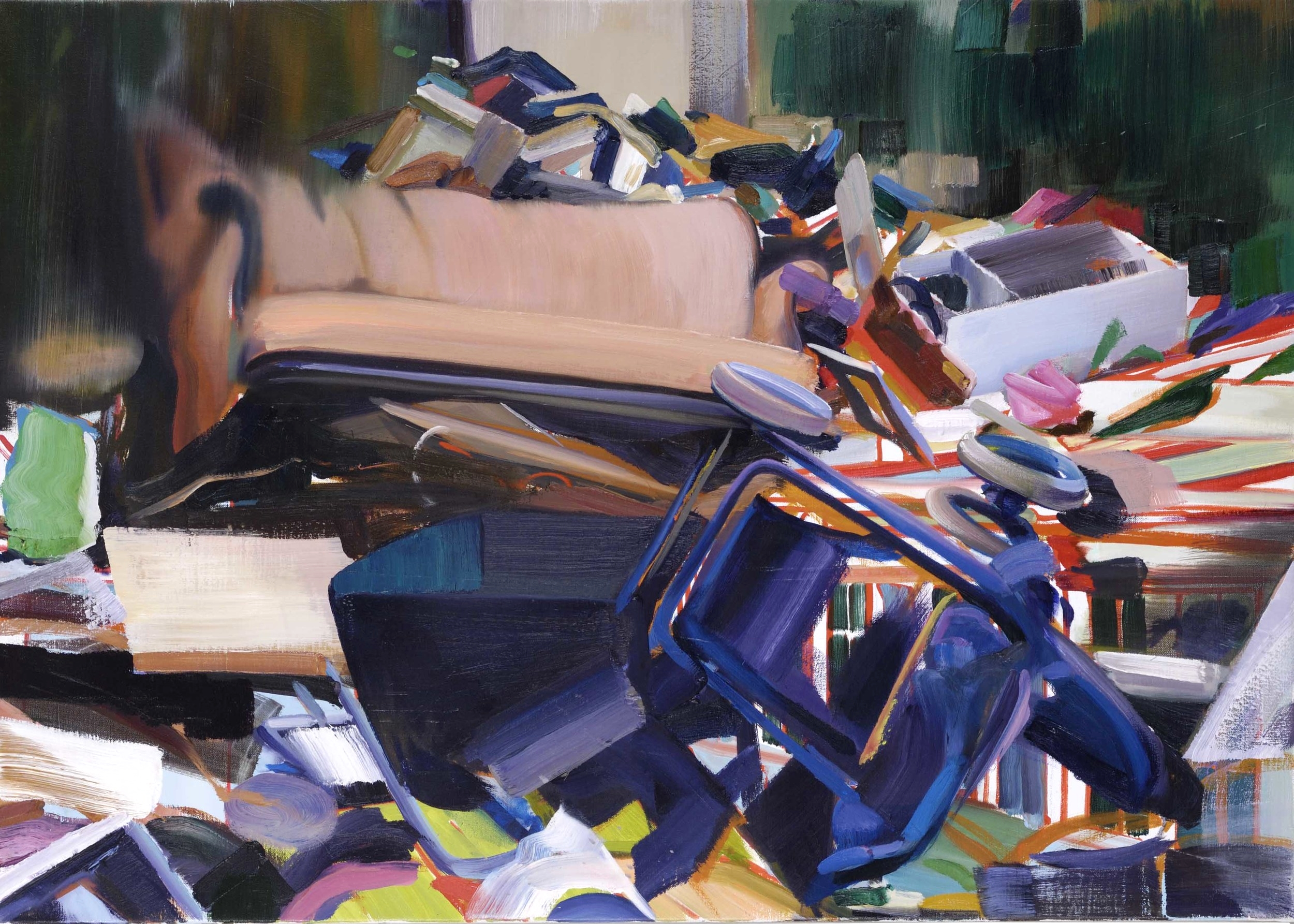 Lounge , 2006, oil on canvas, 61 x 93cm. Collection P. Piguet, France