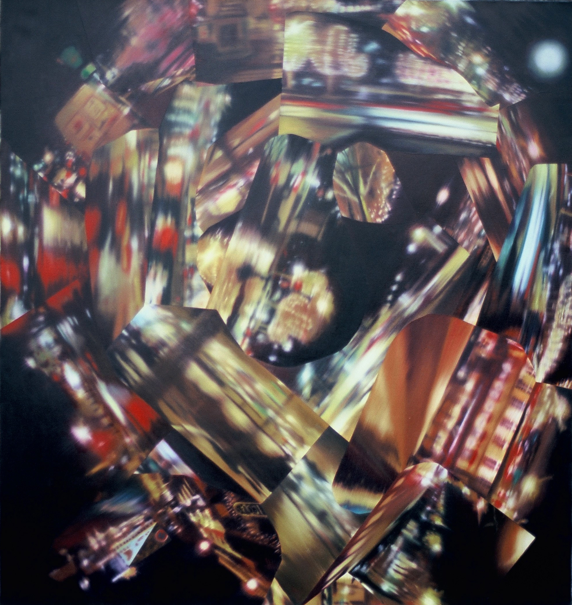 Untitled (Paris by Night) , 2003, oil on canvas, 164 x 140cm. Private collection, France