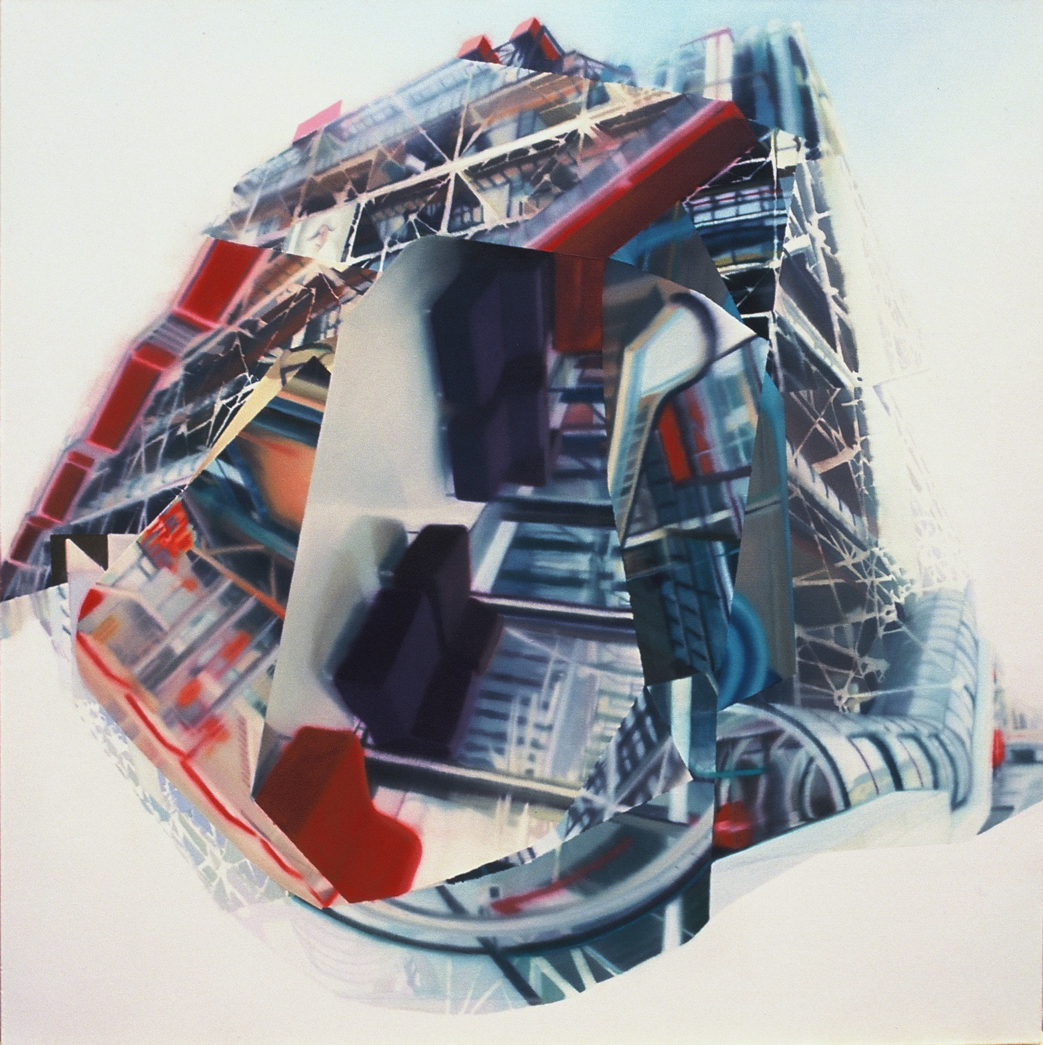 Untitled (ring) , 2002, oil on canvas, 150 x 150cm. Private Collection, France