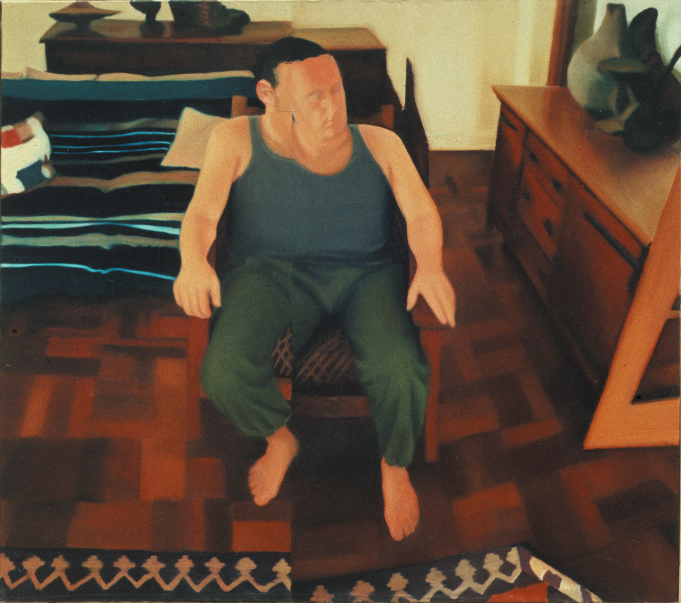 Ralph , 2001,150 x 130cm, oil on canvas. Private collection, France