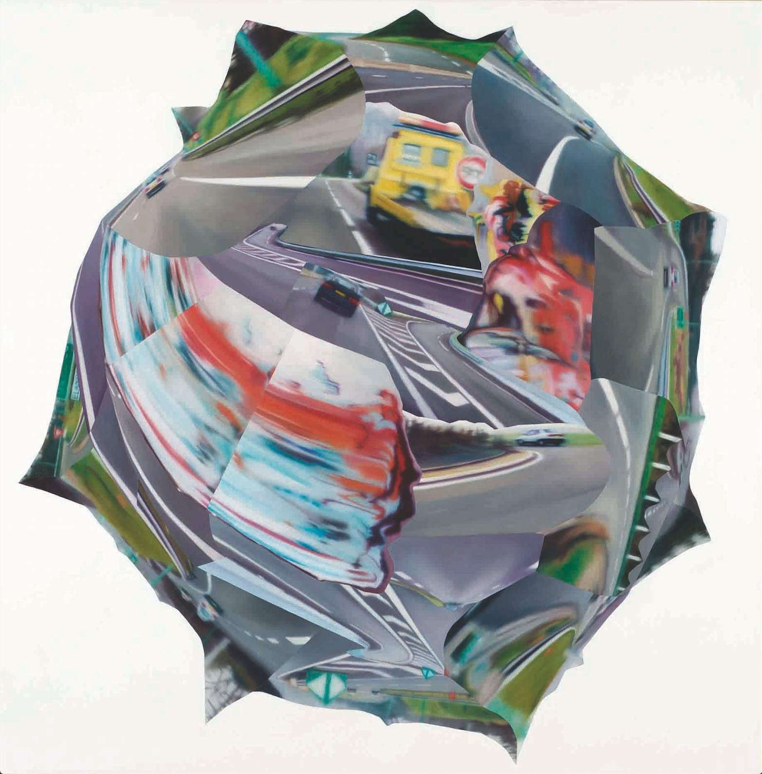 Detour , 2004, oil on canvas , 150 x 150cm. Colas Foundation Collection, France