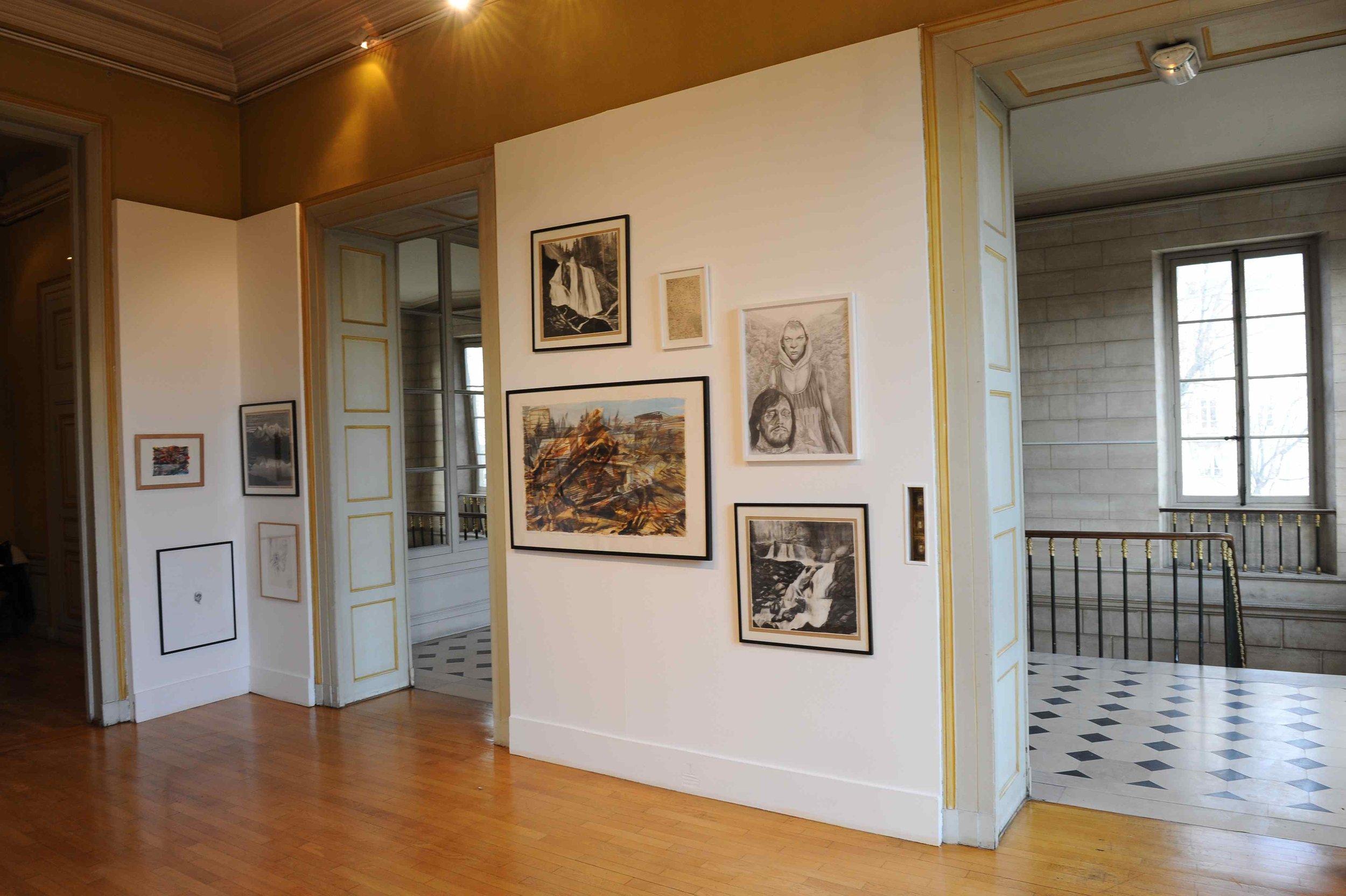 Des paysages, des Figures, Château de St Ouen, 2011.Curator Olivier Masmonteil.Artists in view : Duncan Wylie, Axel Pahlavi, Olivier Masmonteil