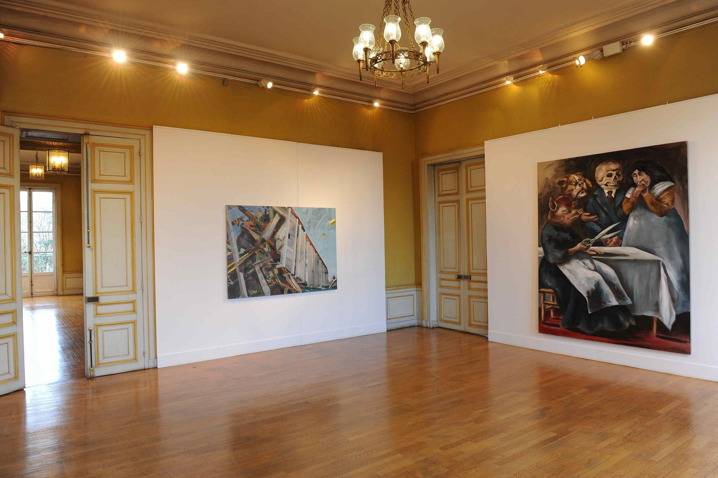 Des paysages, des Figures,  Château de St Ouen, 2011. Curator Olivier Masmonteil.Artists in view : Gregory Forstner, Duncan Wylie