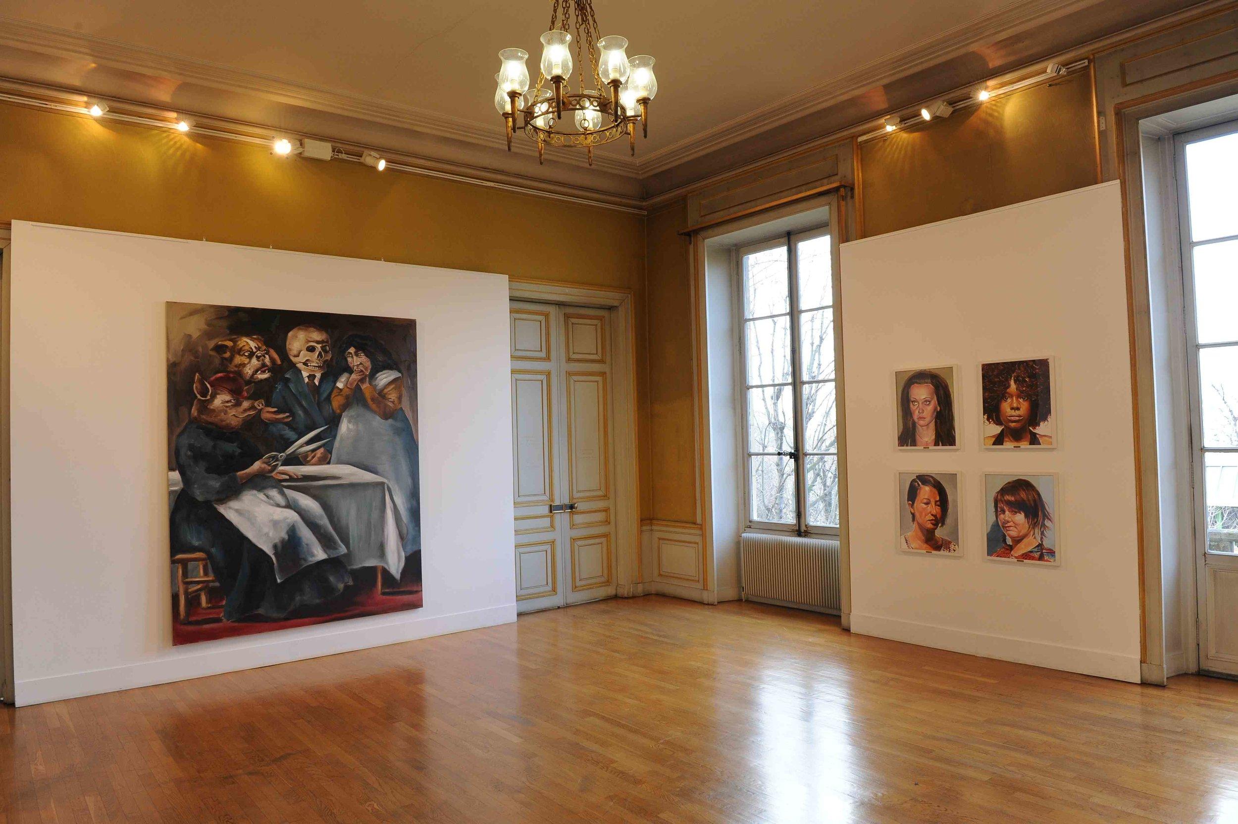 Des paysages, des Figures, Château de St Ouen, 2011.Curator Olivier Masmonteil.Artists in view : Gregory Forstner, Axel Pahlavi