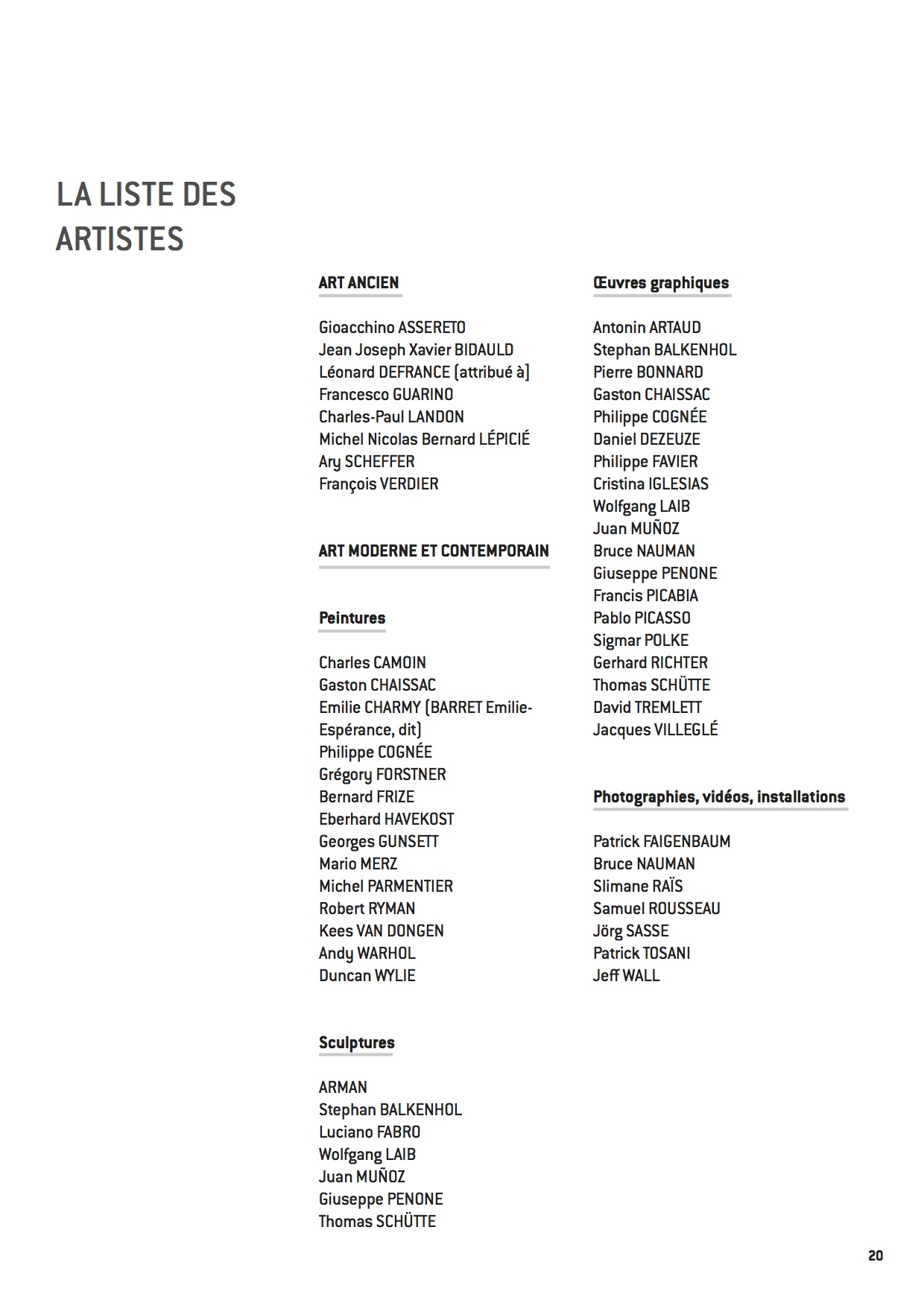 From Picasso to Warhol _ Museum of Grenoble.LIST OF ARTISTS pg 19 copy.jpg