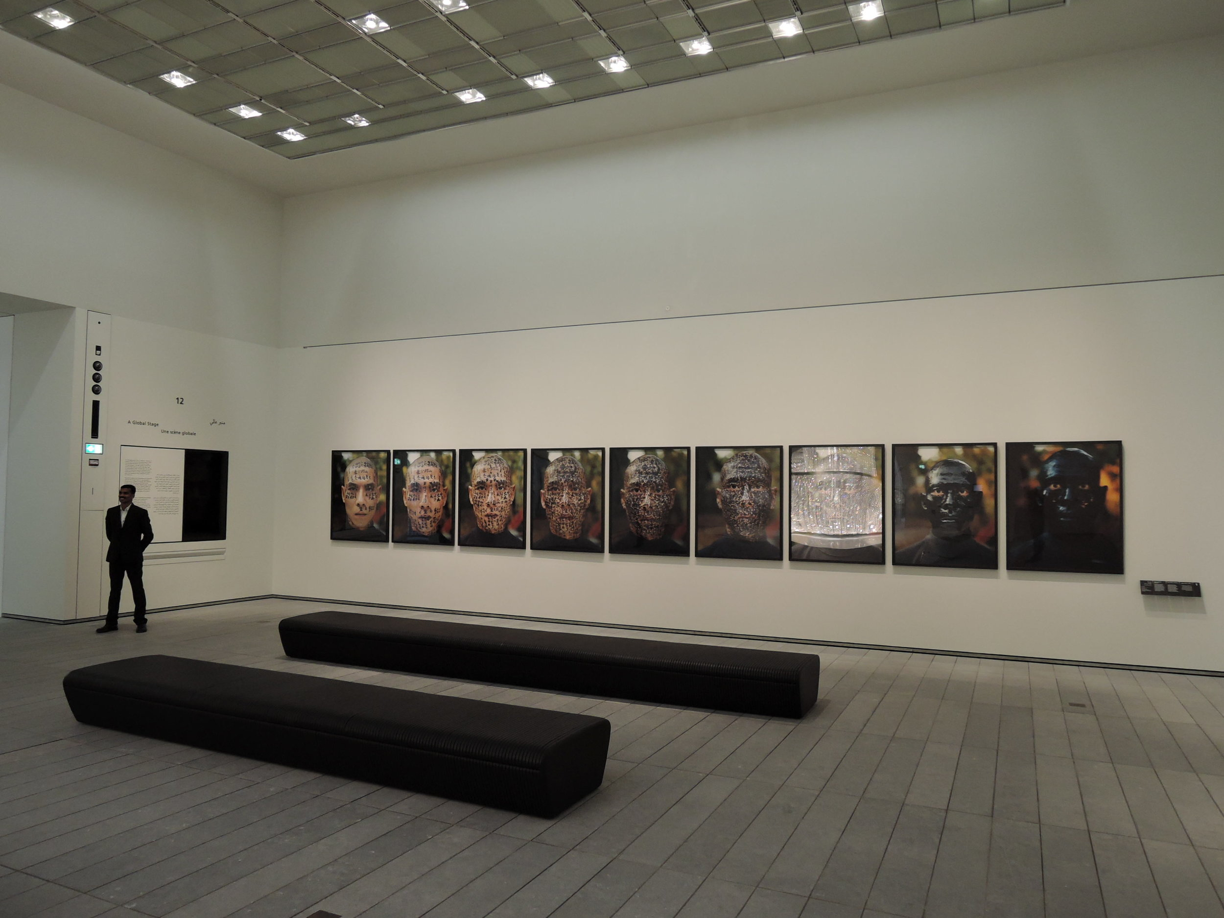 A global stage  , Louvre Abu Dhabi, November 2017, curator Juliette Singer. Artist in view Zang Huan
