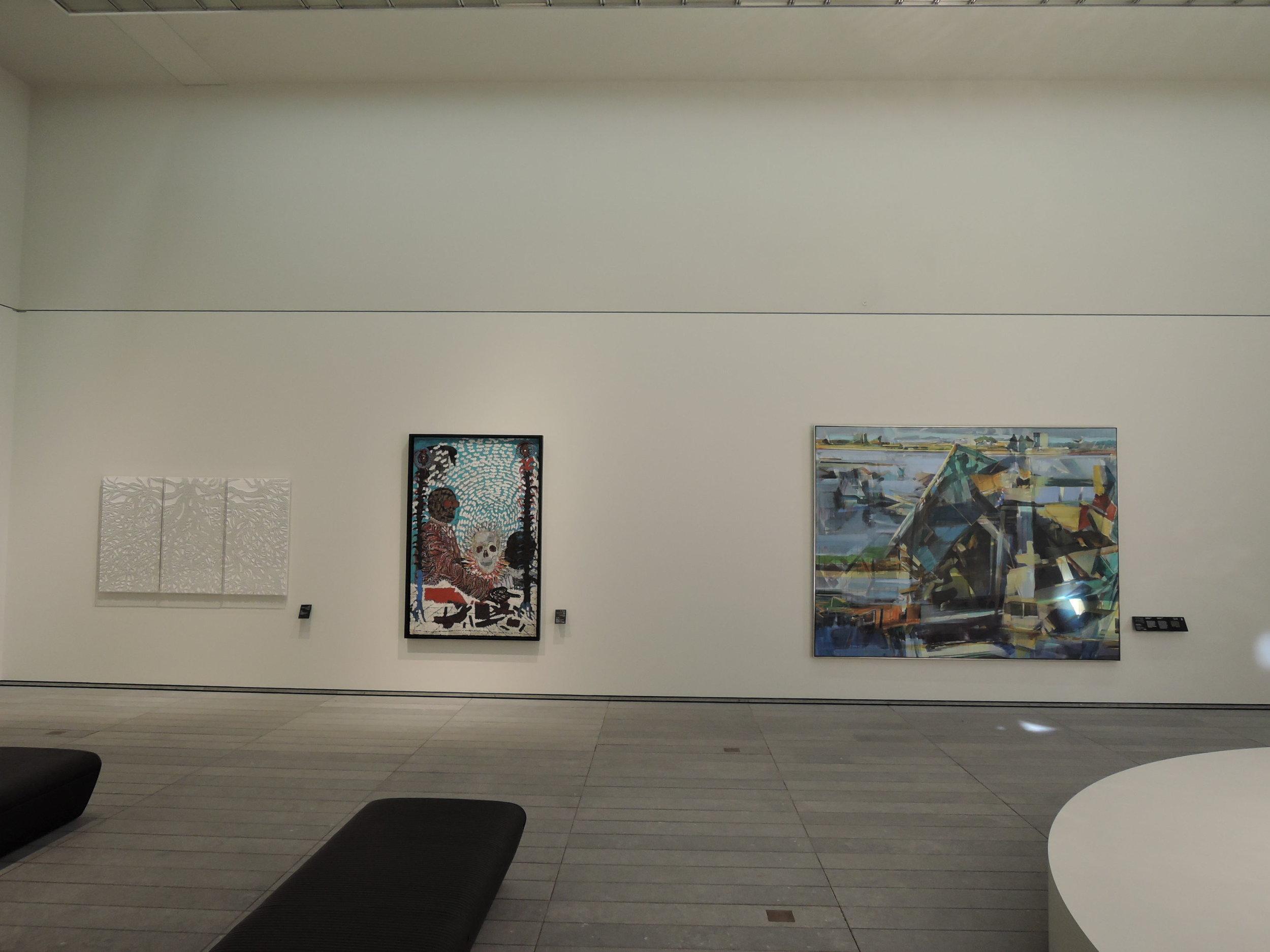 Une scène globale  , Louvre Abu Dhabi, November 2017, curator Juliette Singer. Artists in view Mounir Fatmi, Omar Ba, Duncan Wylie